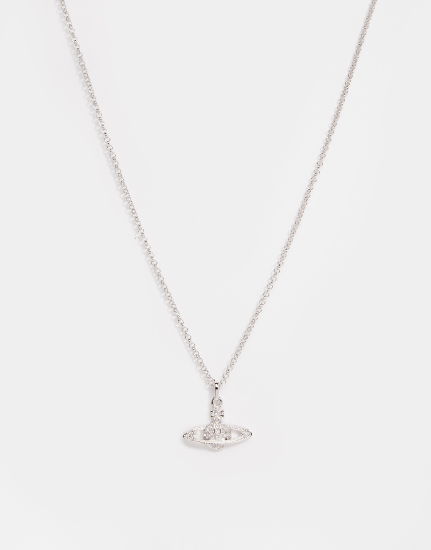 e41dc5c323a6dd Vivienne Westwood Crystal Orb Pendant Necklace in Metallic for Men ...