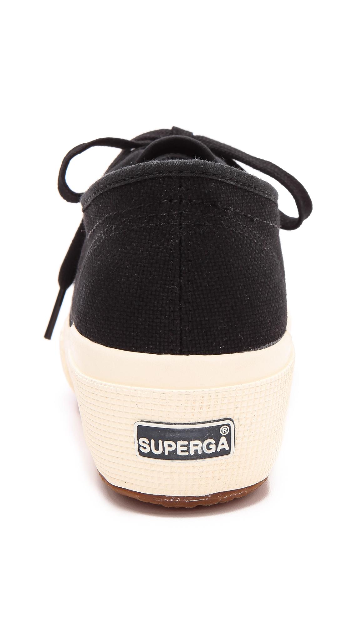 593f06e57551 Lyst - Superga Cotu Wedge Sneakers - White in Black