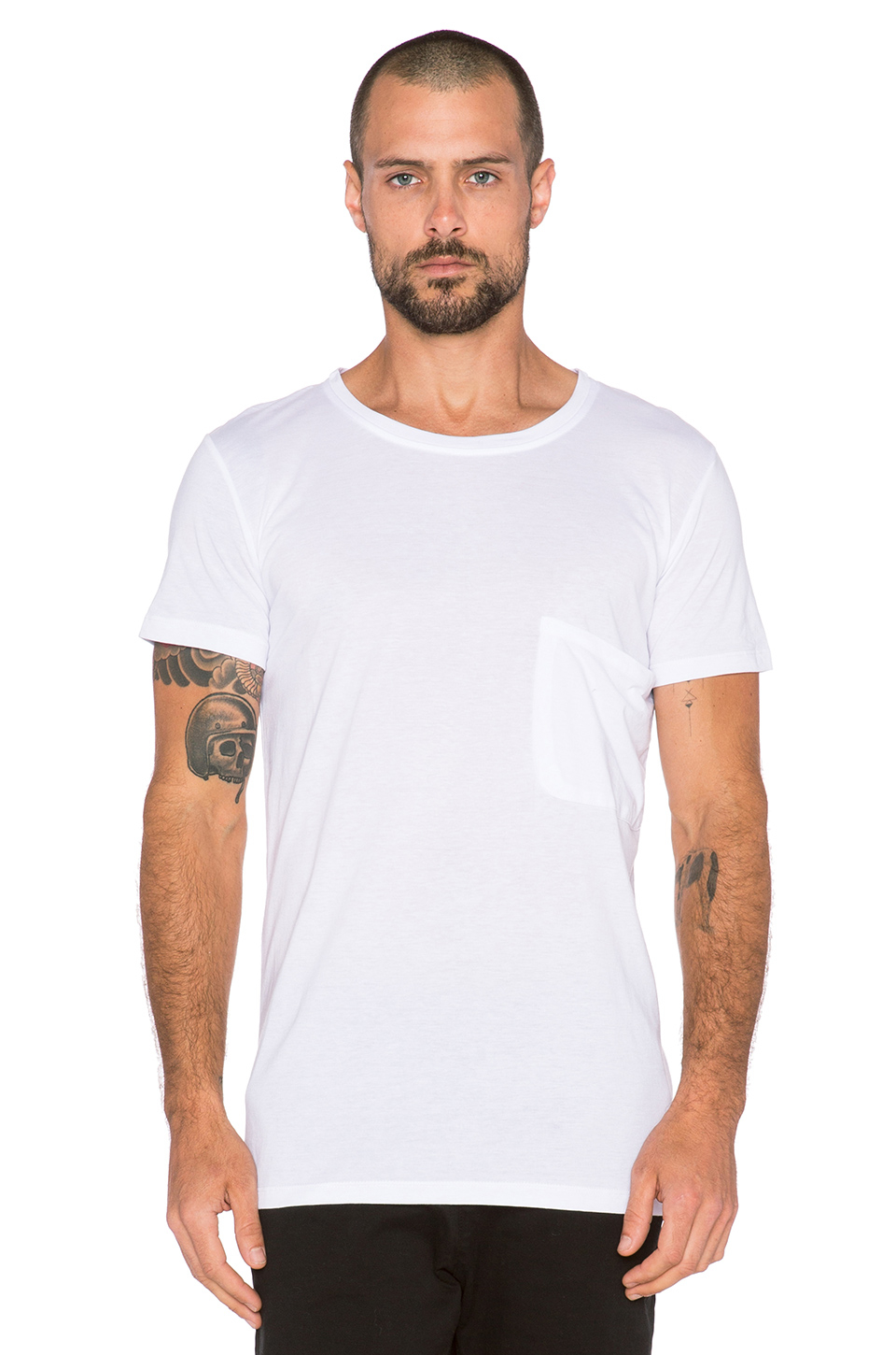 Lot78 Crew Tee in White for Men