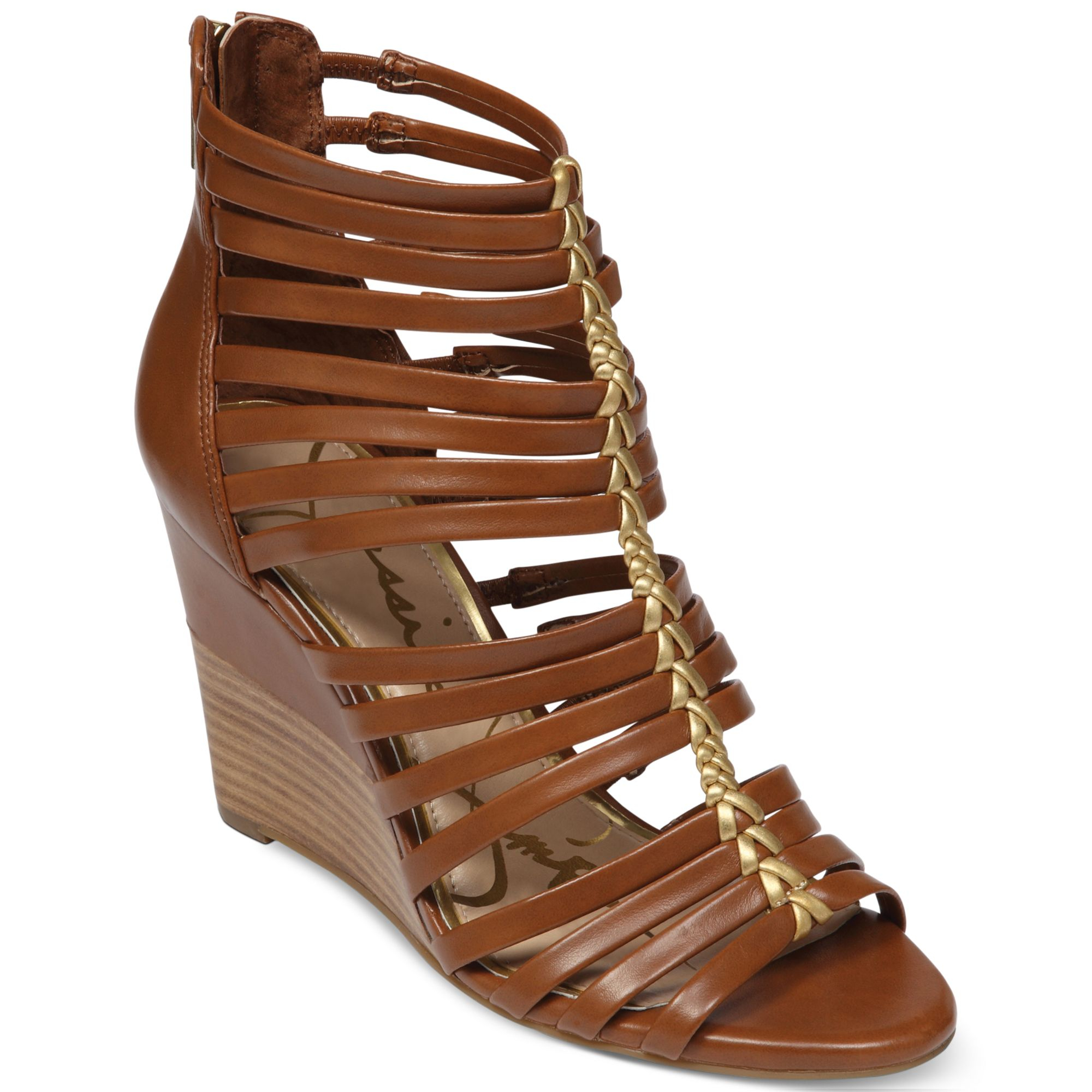 dfaf39c3a4df Lyst - Jessica Simpson Miccy Wedge Gladiator Sandals in Brown