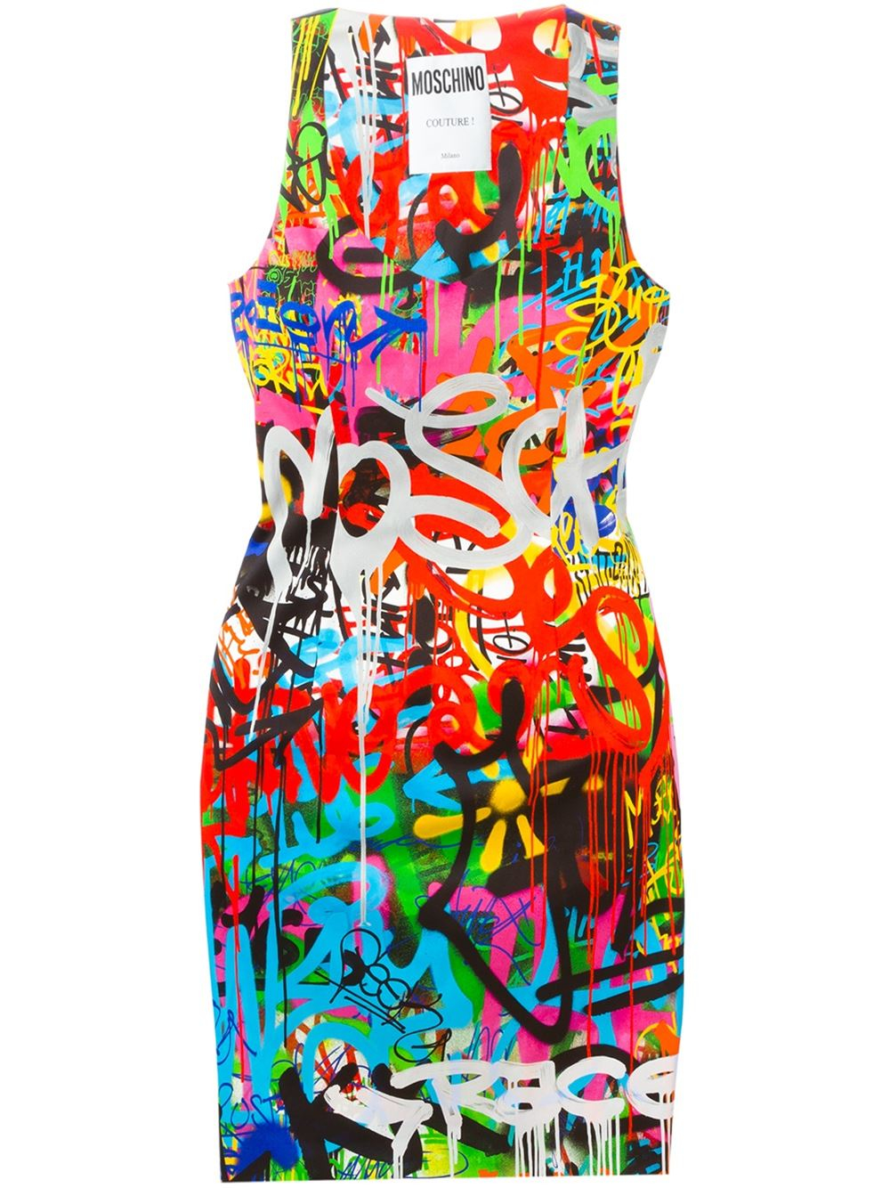 Moschino Graffiti Print Mini Dress Lyst