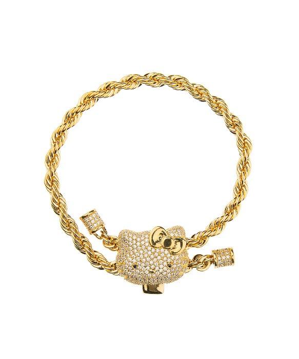 Noir jewelry Hello Kitty Twist Bracelet in Metallic Lyst