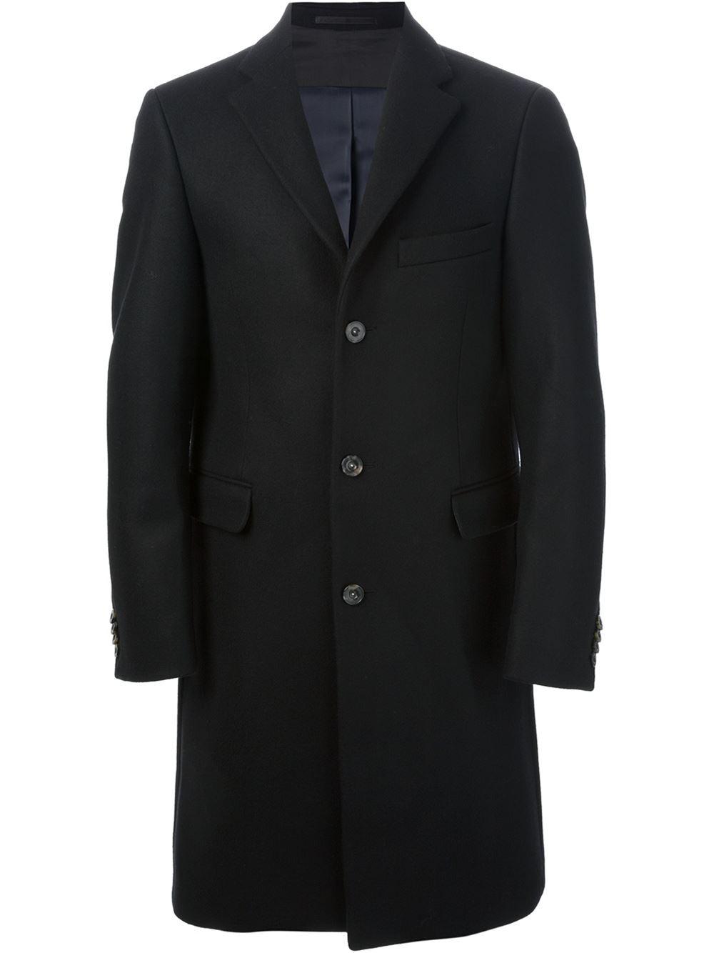 Lyst Acne Studios Garret Coat In Black For Men