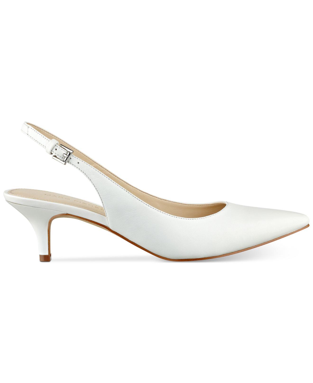 ab0c25b3497 Lyst - Marc Fisher Tiffani Kitten-heel Slingback Pumps in White
