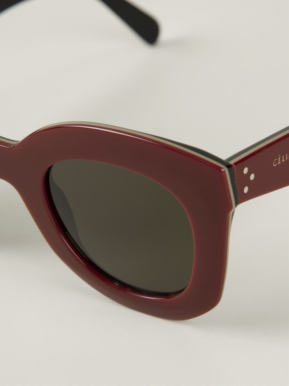Celine Red Sunglasses  céline marta sunglasses in red lyst