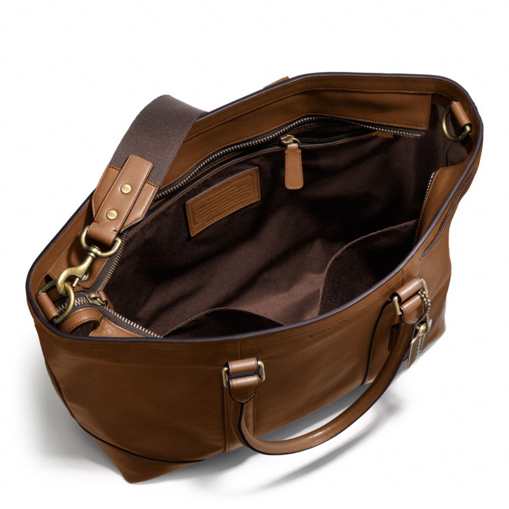 Coach Bleecker Legacy Leather Business Tote in Brown