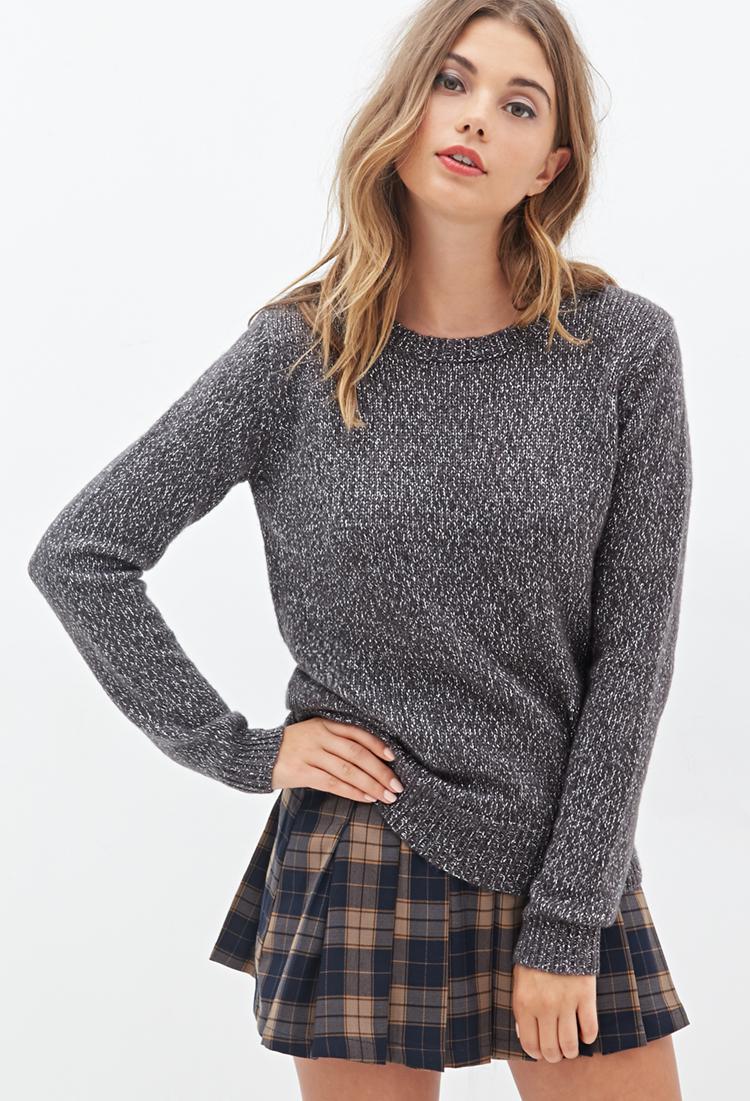 edcb04b5f Forever 21 Metallic Knit Sweater in Gray - Lyst