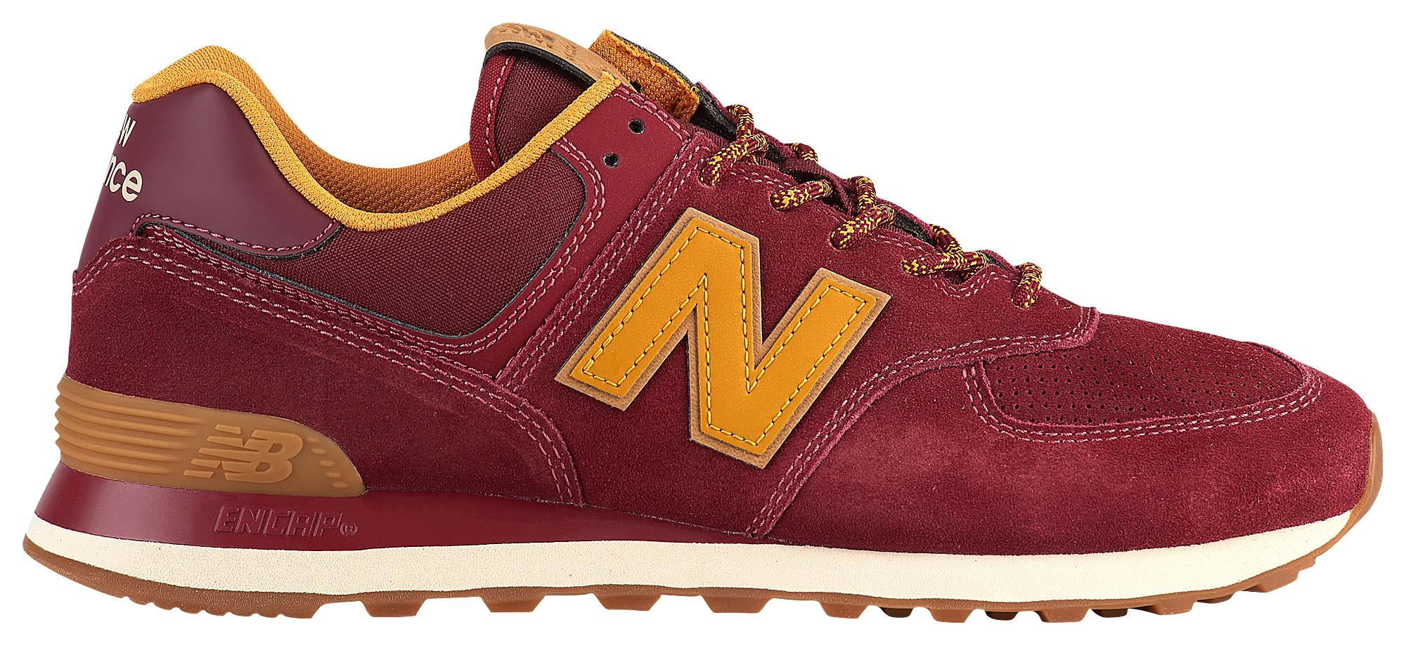 new arrival e72aa b8467 New Balance 574 Classic in Red for Men - Lyst