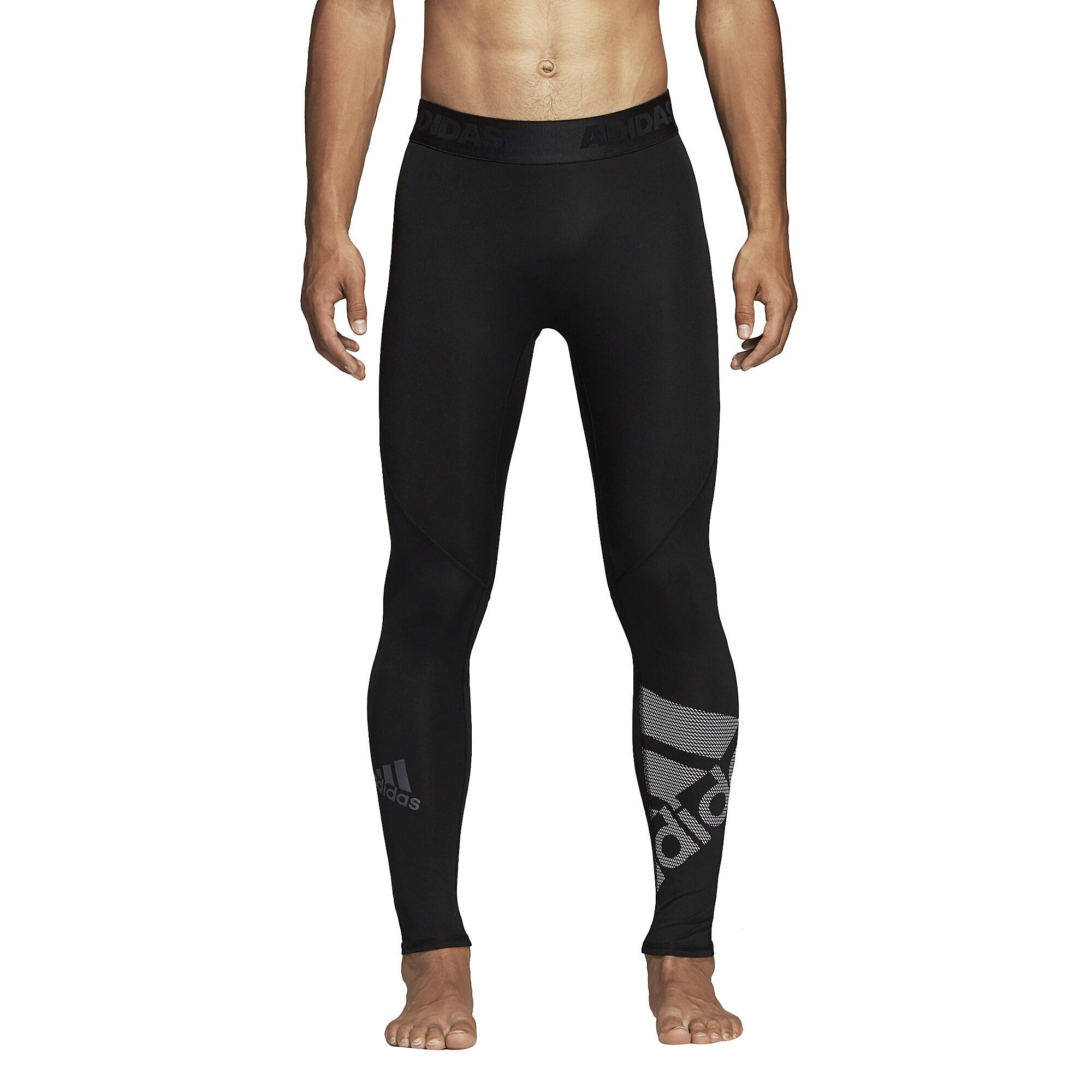 2867ea75b90ee2 adidas Alphaskin Compression Logo Tights in Black for Men - Lyst