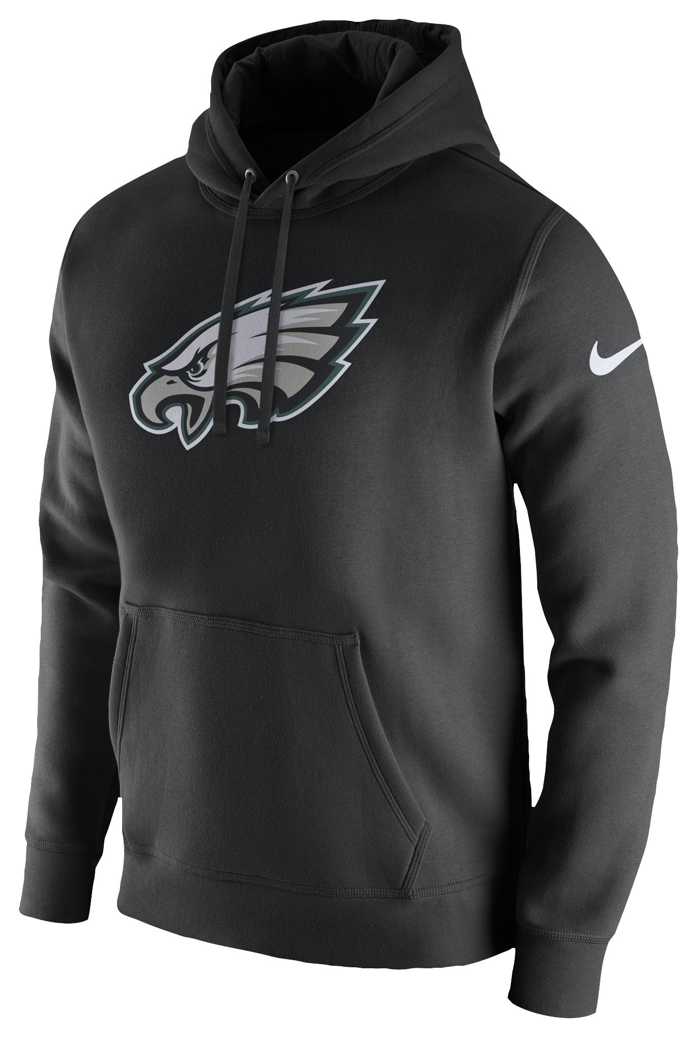 c1c6fc3634 Nike. Men's Black Philadelphia Eagles Nfl Pullover Fleece Club Hoodie
