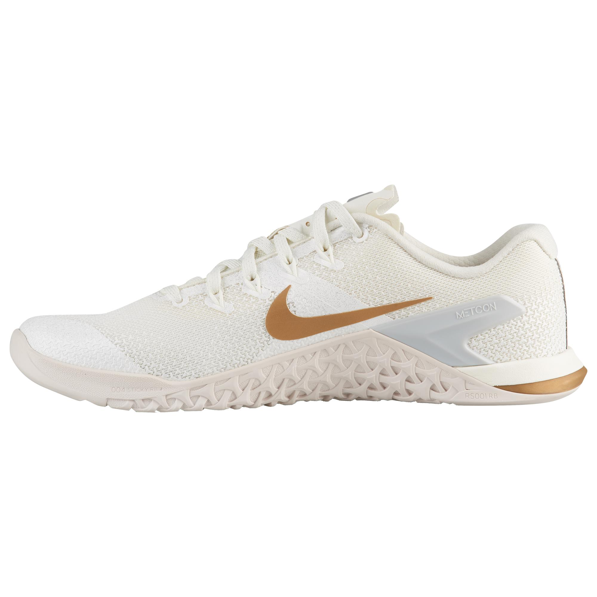 175708386b066 Tap to visit site. Nike - Metallic Metcon 4 Champagne Sports Shoes  White/gold Fitness/training ...