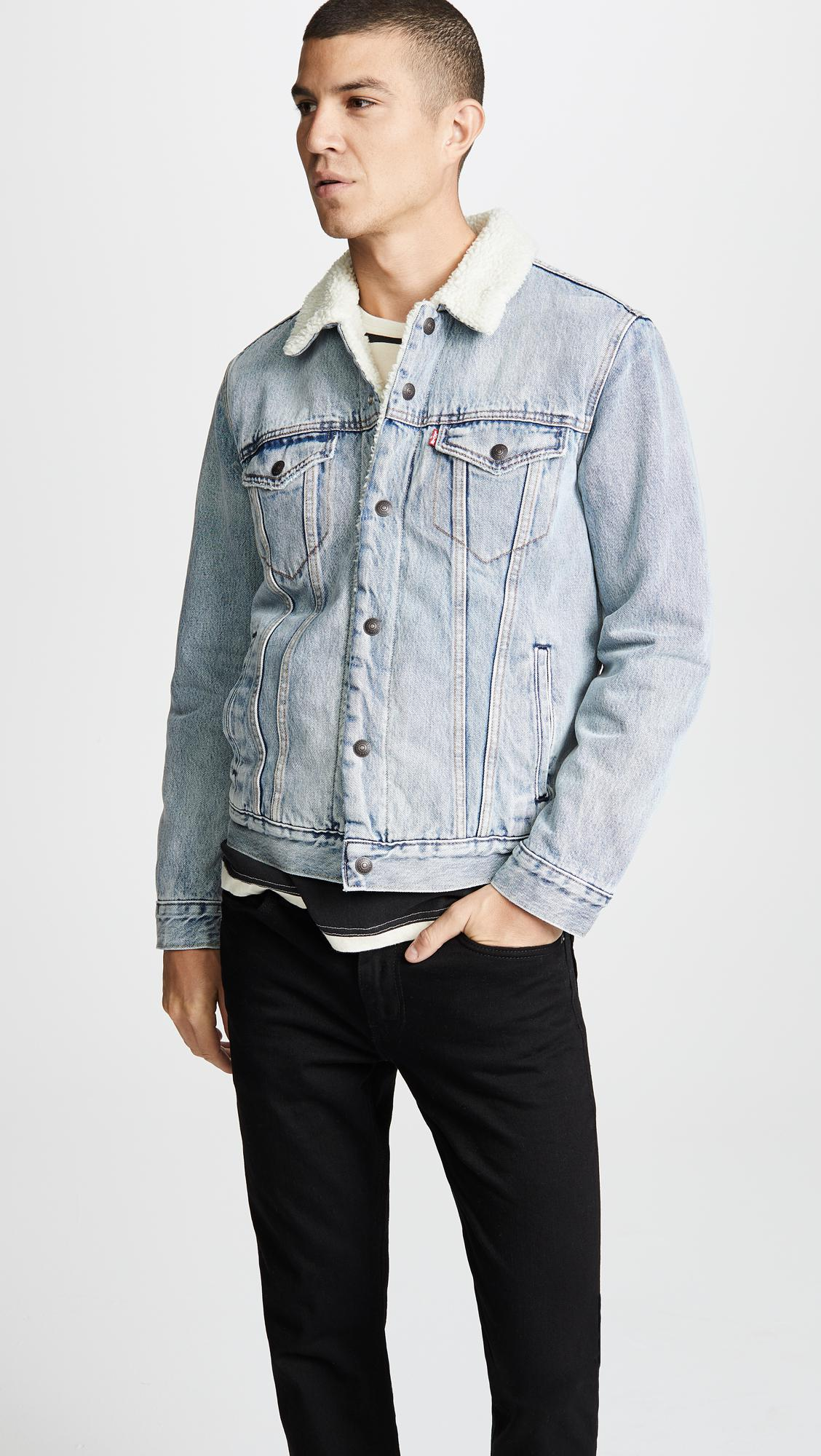 b148a197633 ... Levi's - Blue Type Iii Sherpa Trucker Jacket for Men - Lyst. Visit East  Dane. Tap to visit site