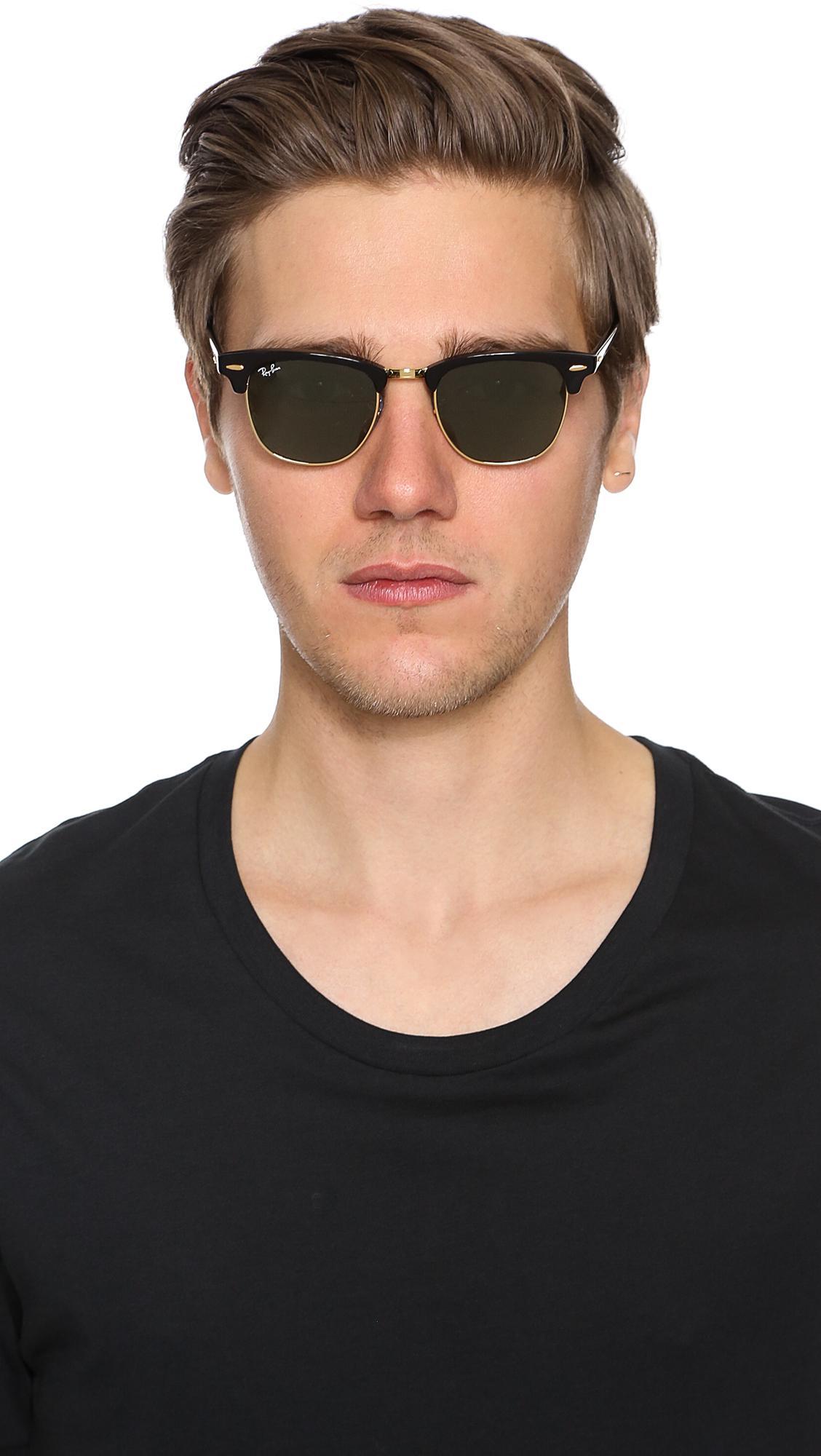 84ebc54656e Ray-Ban - Black Clubmaster Classic Sunglasses for Men - Lyst. View  fullscreen