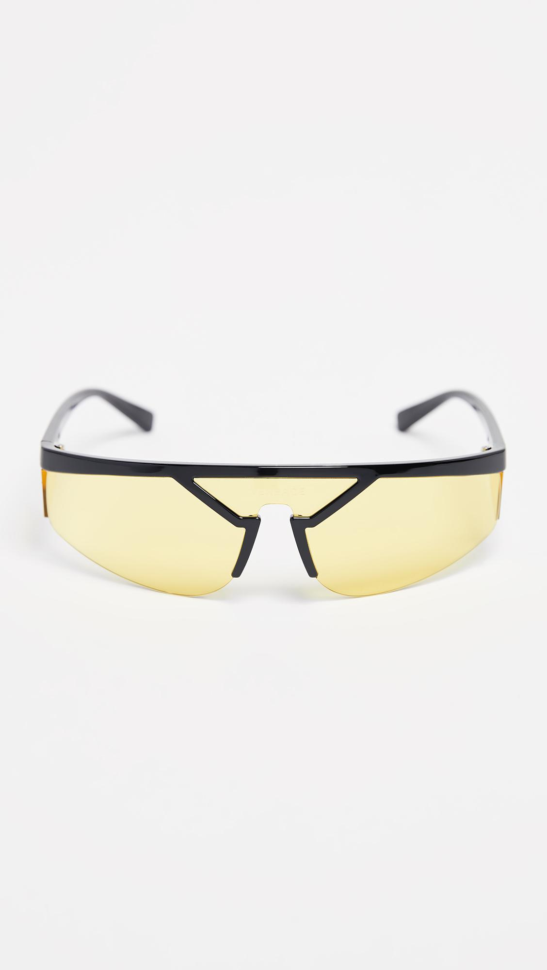 17aed5db550f Versace Visor Sunglasses for Men - Lyst