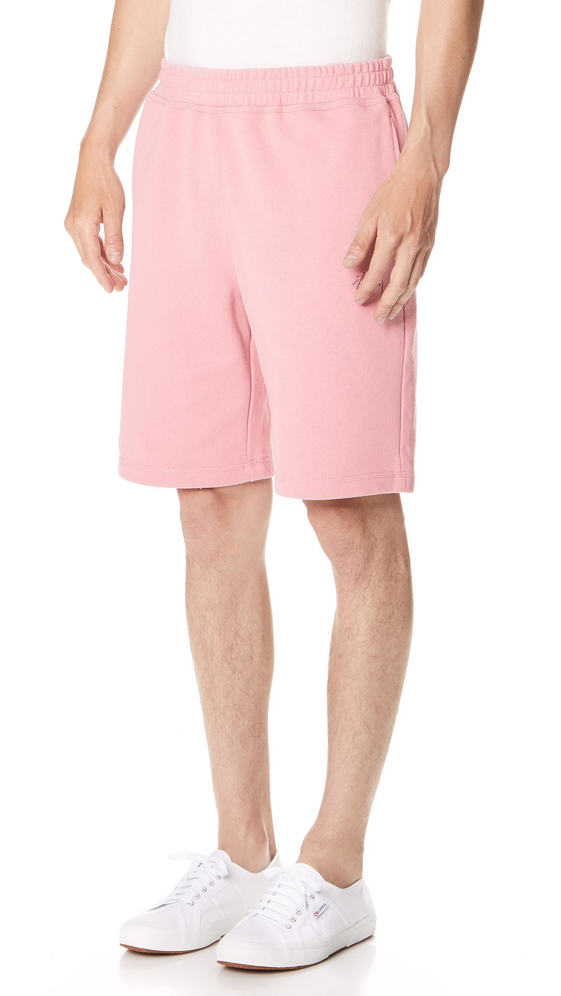 e316e46059 Lyst - Stussy Stock Sweat Shorts in Pink for Men