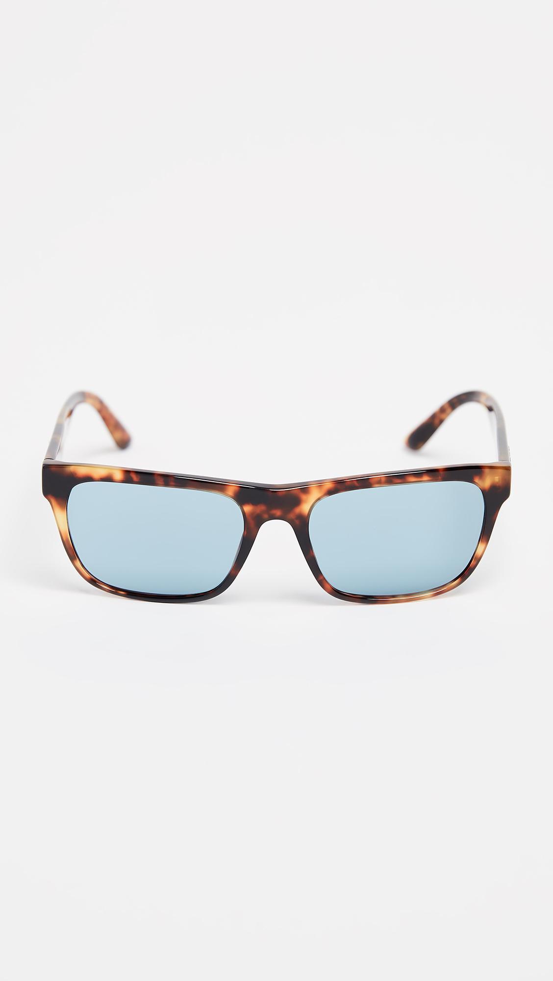 48edf9a9e86 Burberry Square Sunglasses in Blue for Men - Lyst