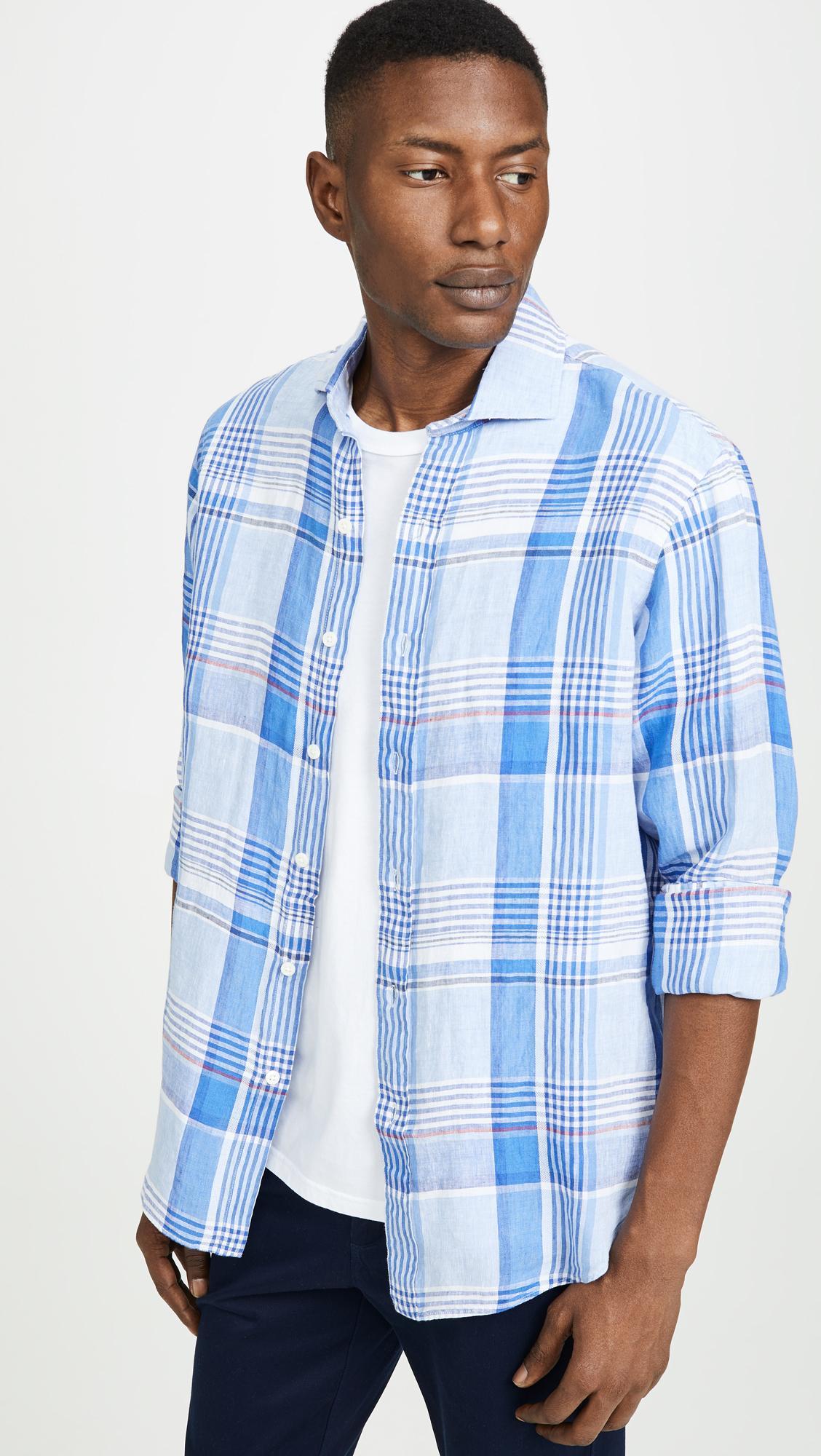 0142586f9 Lyst - Polo Ralph Lauren Long Sleeve Linen Shirt in Blue for Men