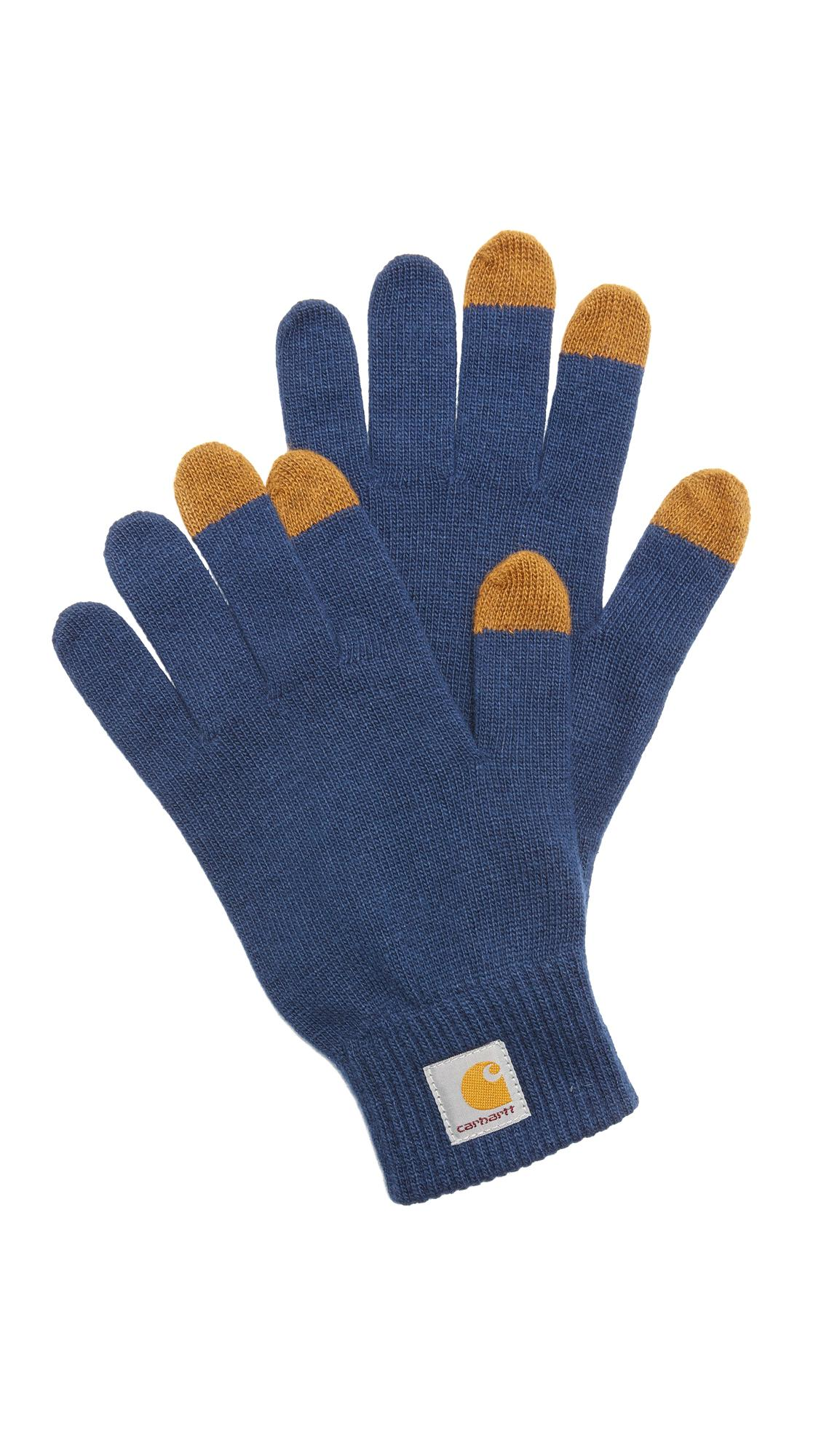 Carhartt Wip Touch Screen Gloves in Blue for Men