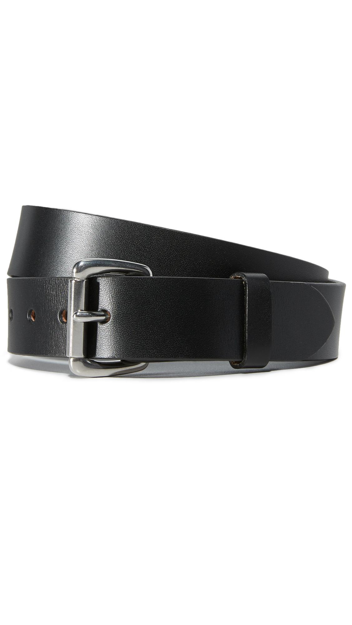 filson bridle leather belt in black for lyst