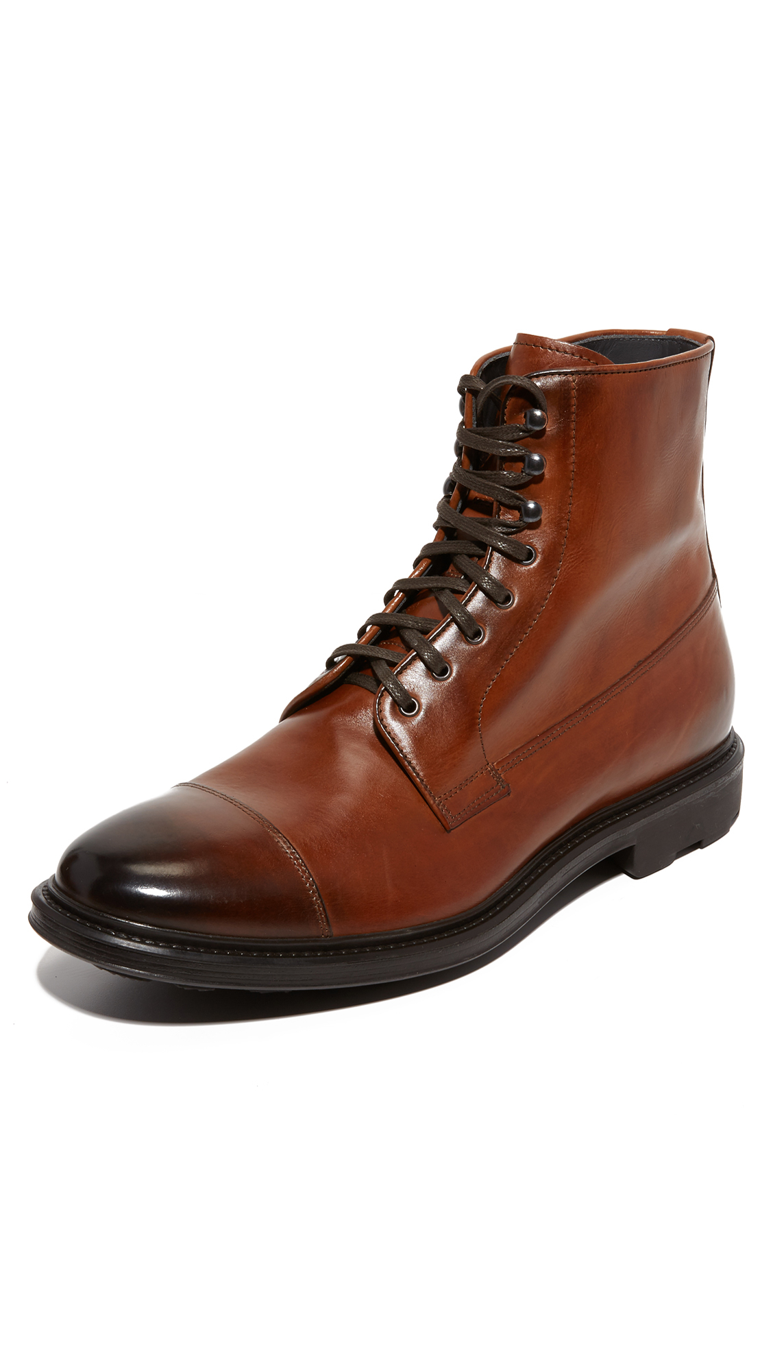 to boot neils leather cap toe boots for lyst
