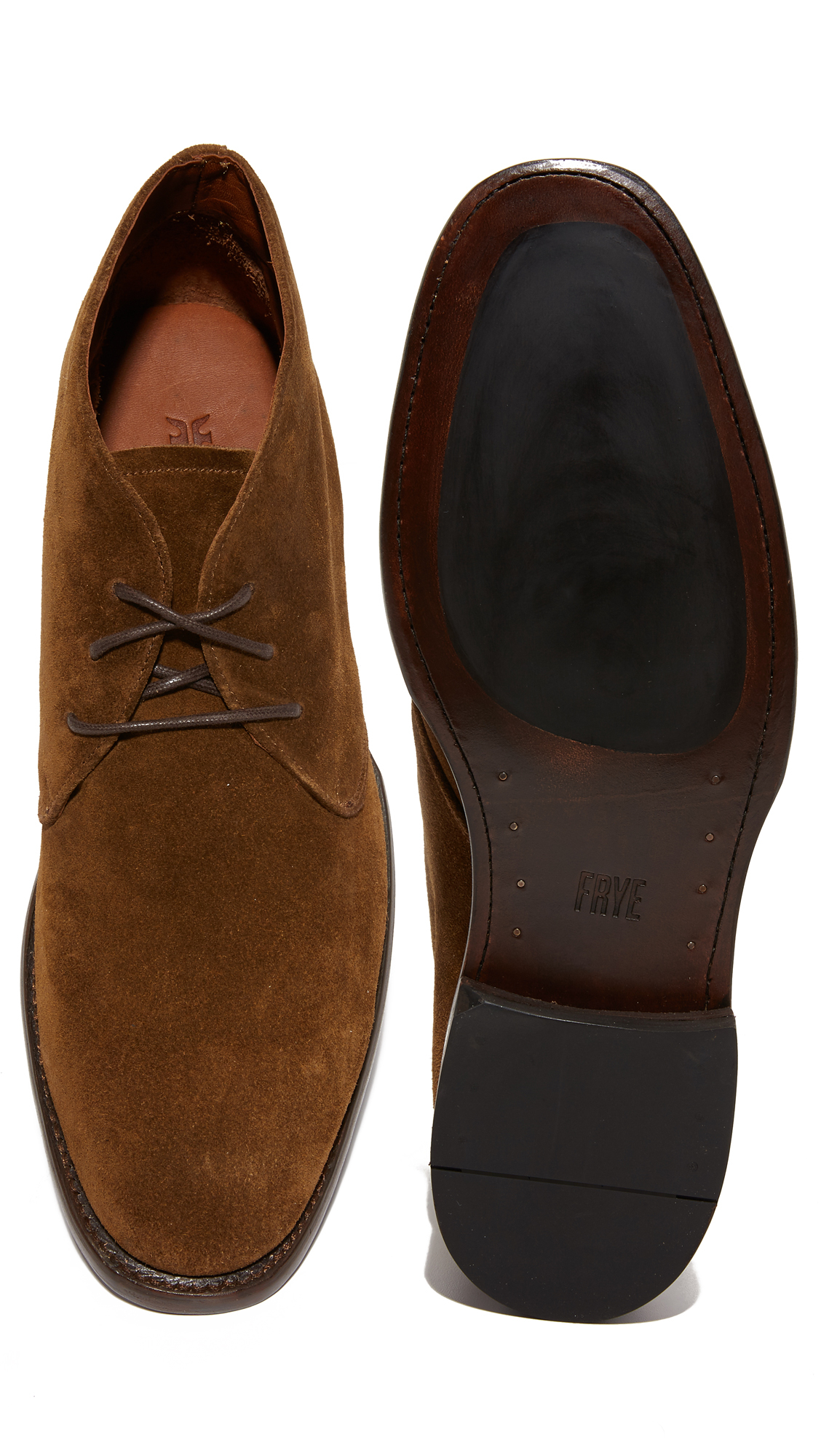 frye weston suede chukka boots in blue for lyst