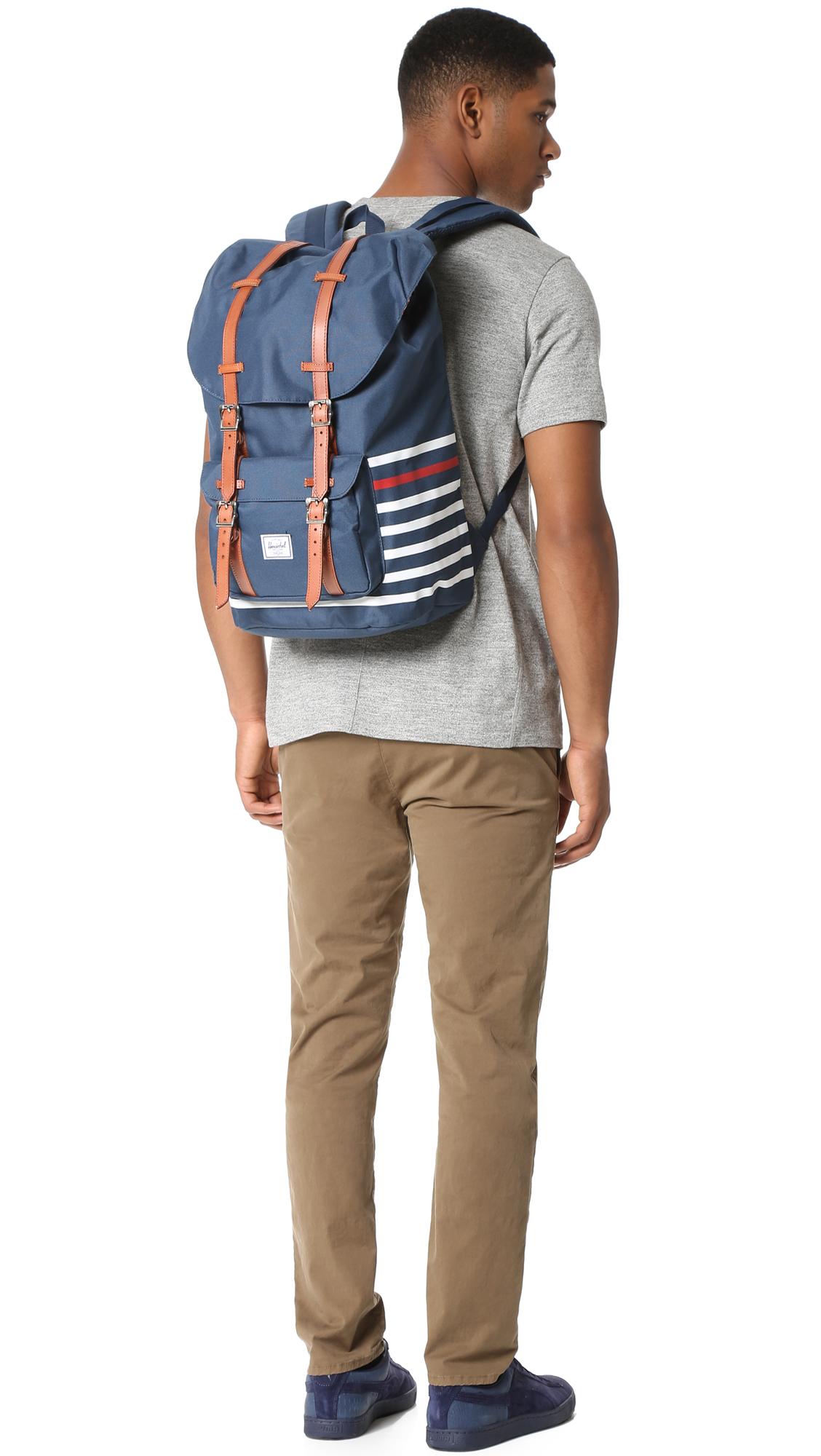 363addcfdea Lyst - Herschel Supply Co. Little America Backpack in Blue for Men