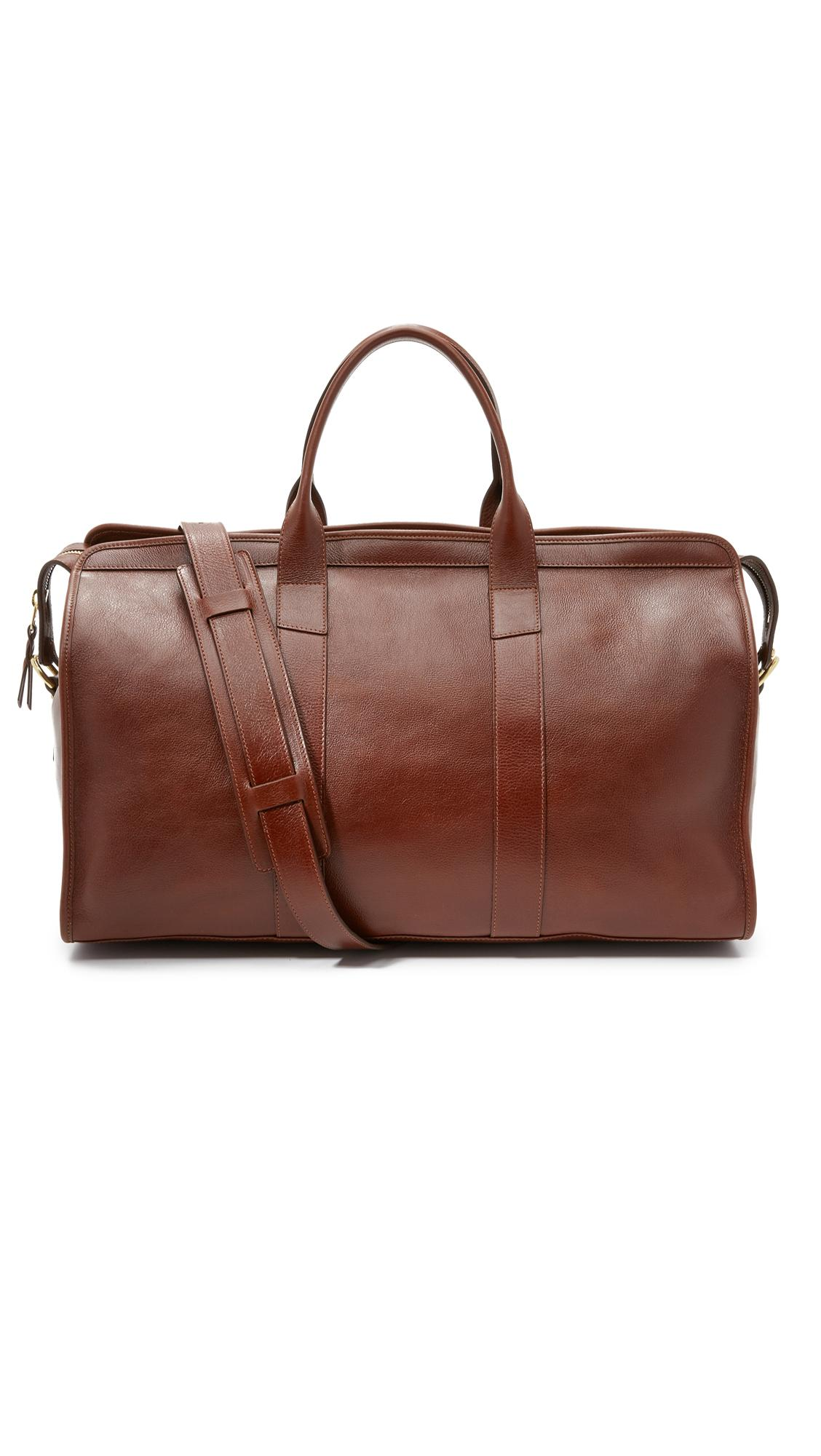 Lotuff leather Duffel Travel Bag With Pocket in Brown for ...