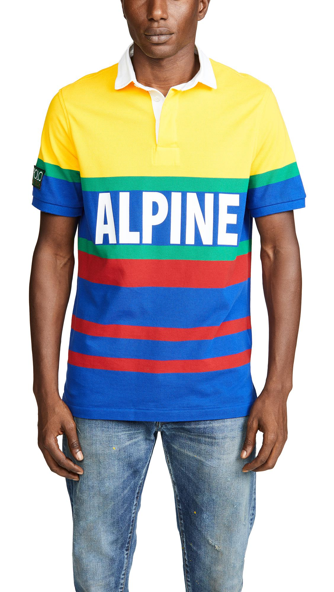 93af7472207 Polo Ralph Lauren Hi Tech Short Sleeve Rugby Polo Shirt in Blue for ...