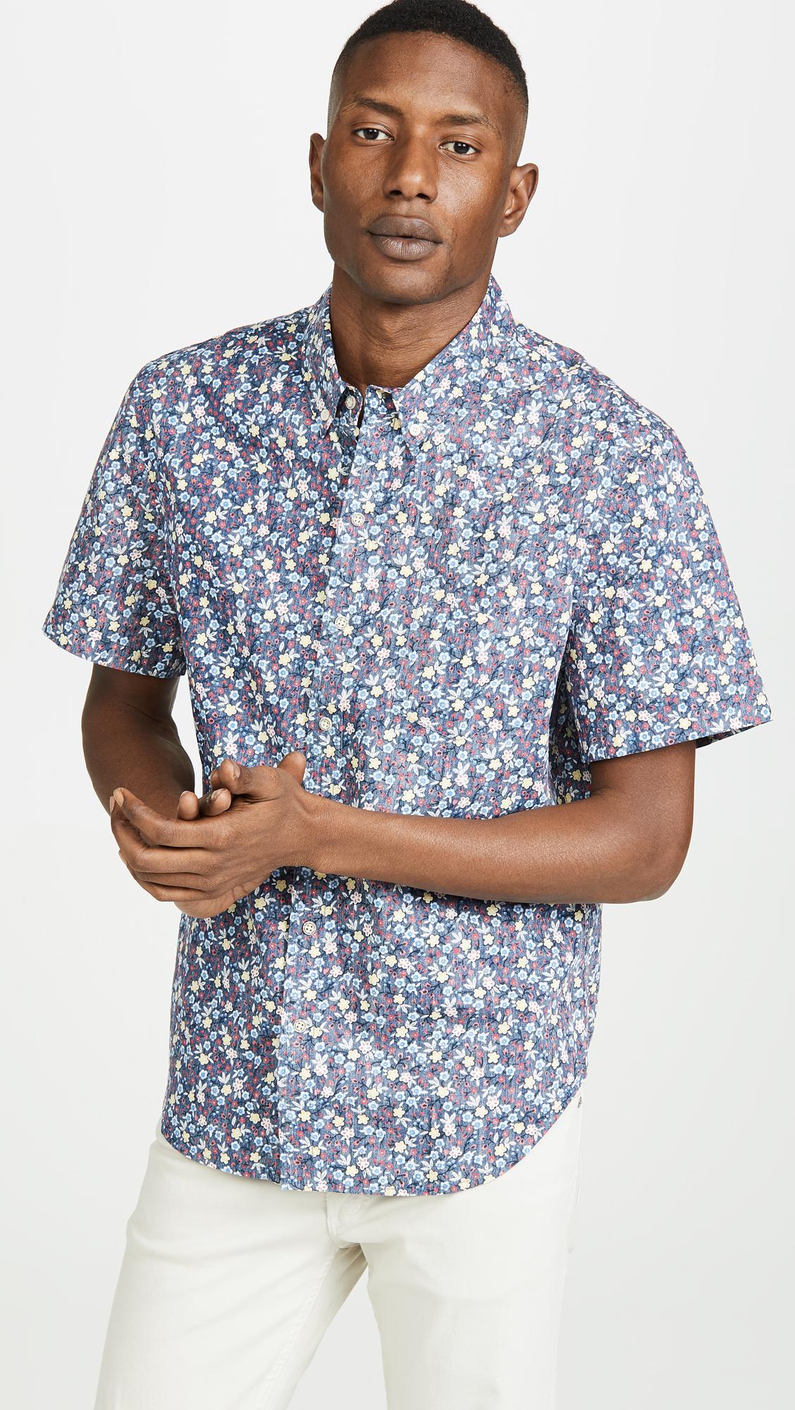 fd25d4547 Lyst - Reyn Spooner Retro Mini Tailored Shirt in Blue for Men