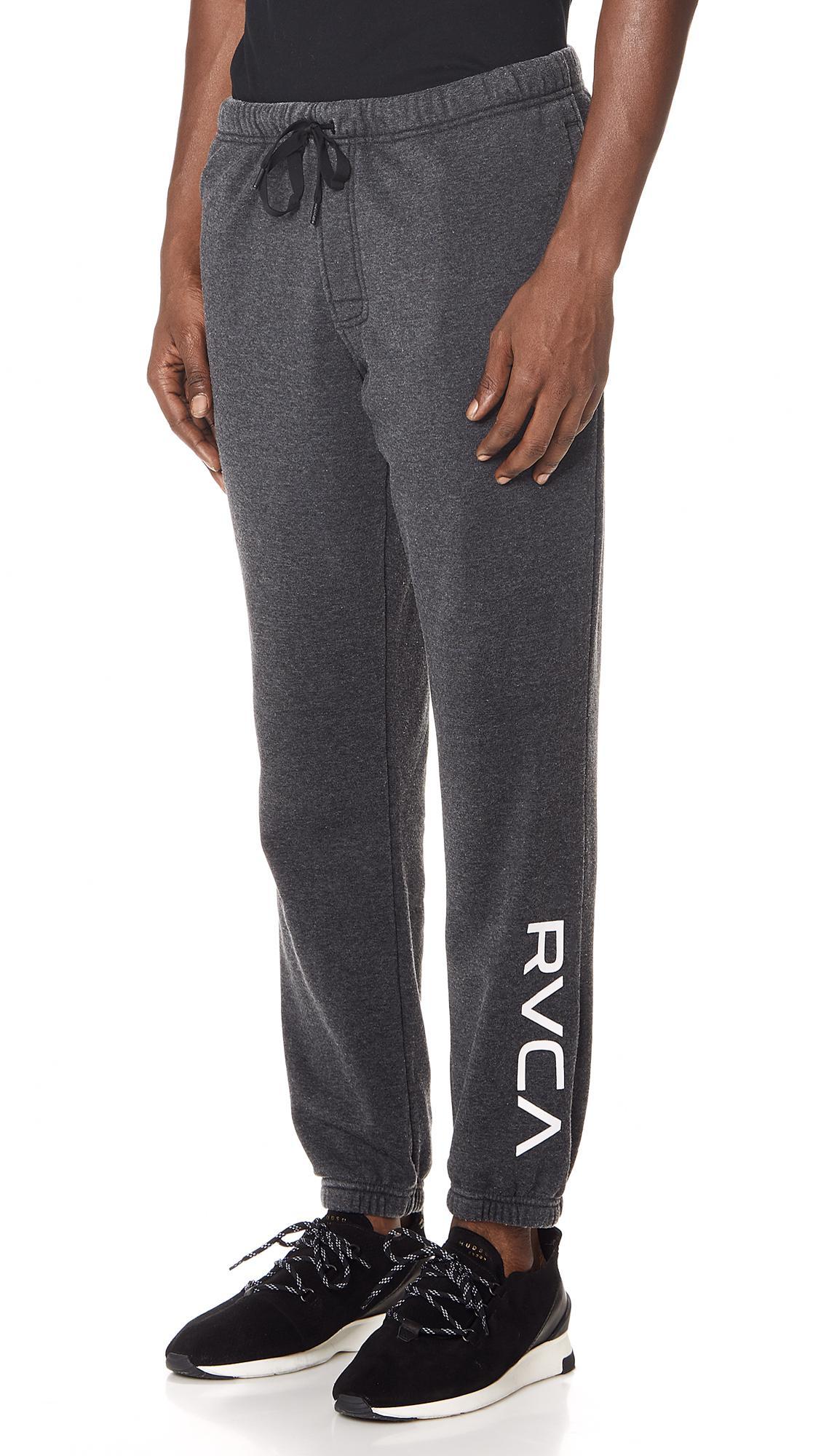 24748b8f7 RVCA Va Guard Fleece Sweatpants in Black for Men - Lyst
