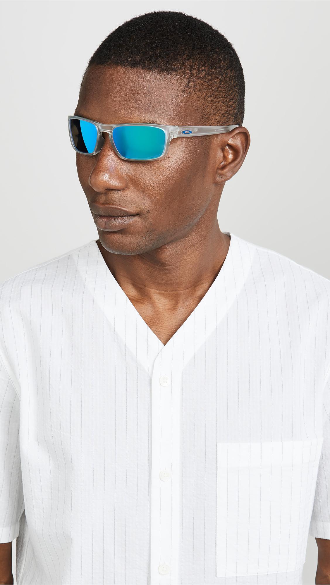 fc88de2d82cd3 Oakley - Blue Silver Stealth Sunglasses for Men - Lyst. View fullscreen