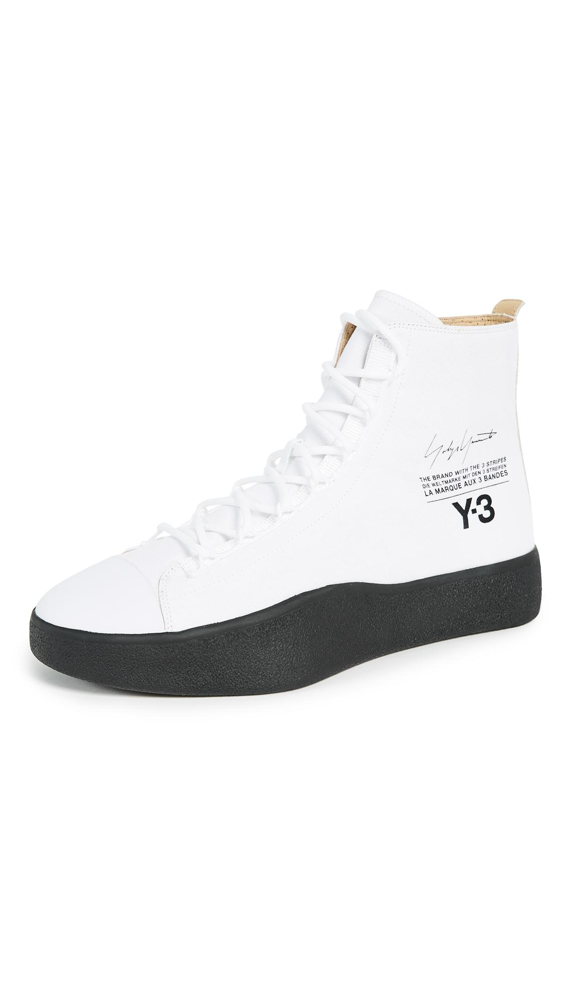 d20042d1410c Y-3 Bashyo High Top Sneakers in White for Men - Lyst