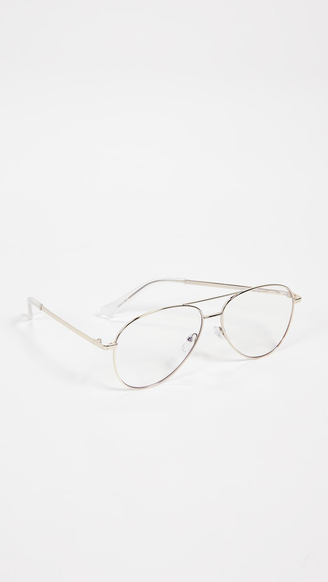 73f2437989 Quay - Metallic Still Standing Blue Light Blocker Glasses for Men - Lyst.  View fullscreen