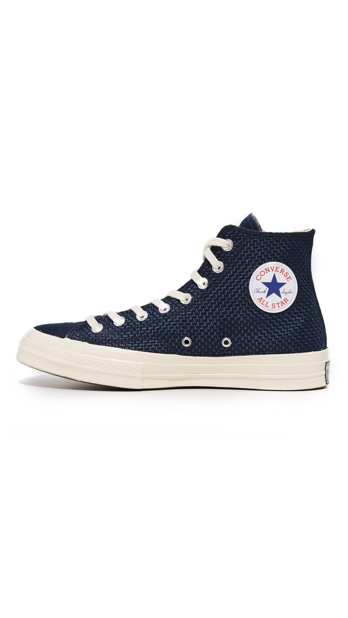 low cost 220cd 66689 Converse Chuck Taylor All Star  70s Woven High Top Sneakers in Blue ...
