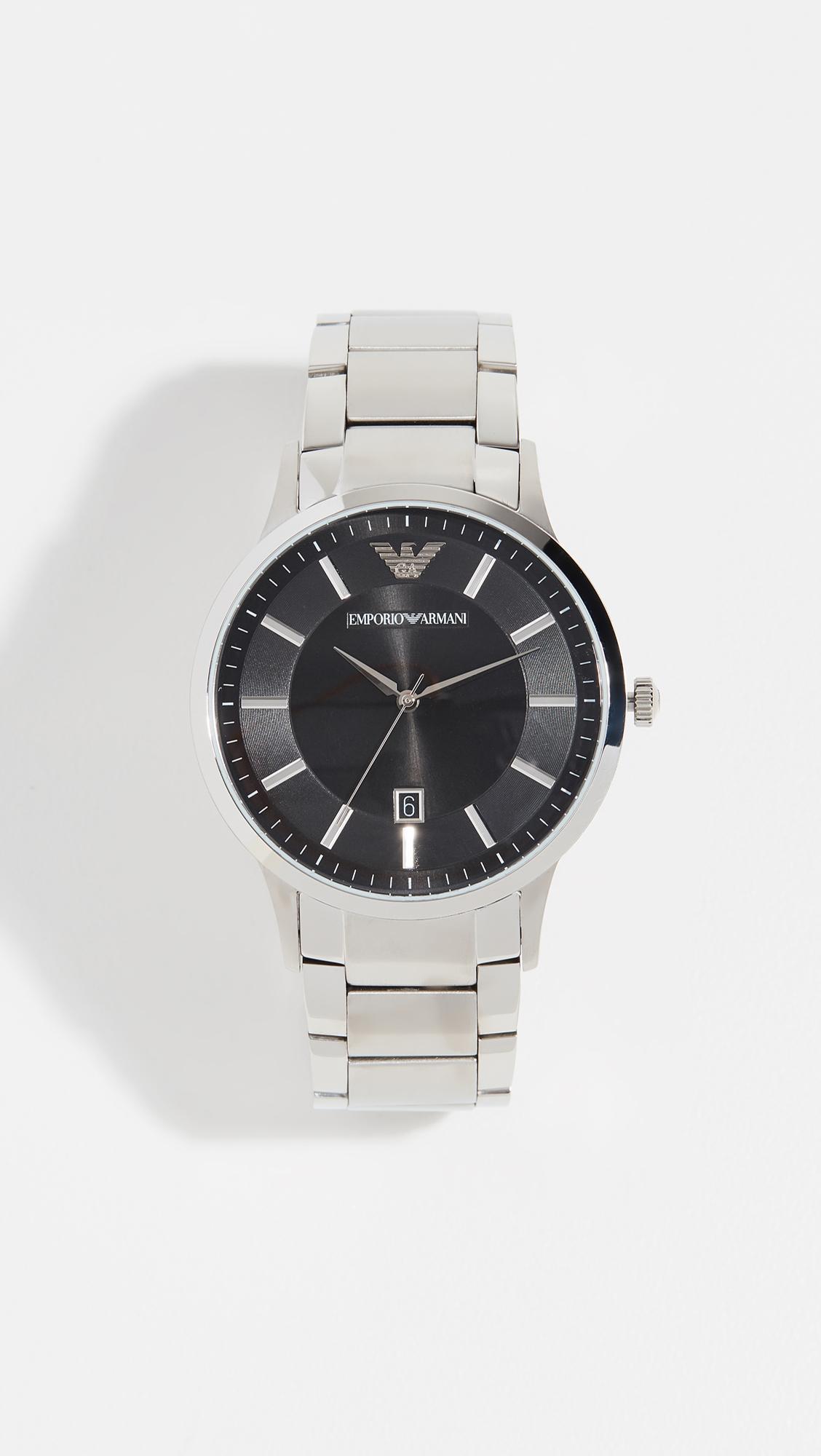 4e1d586bd Lyst - Emporio Armani Renato Watch, 43mm in Black for Men