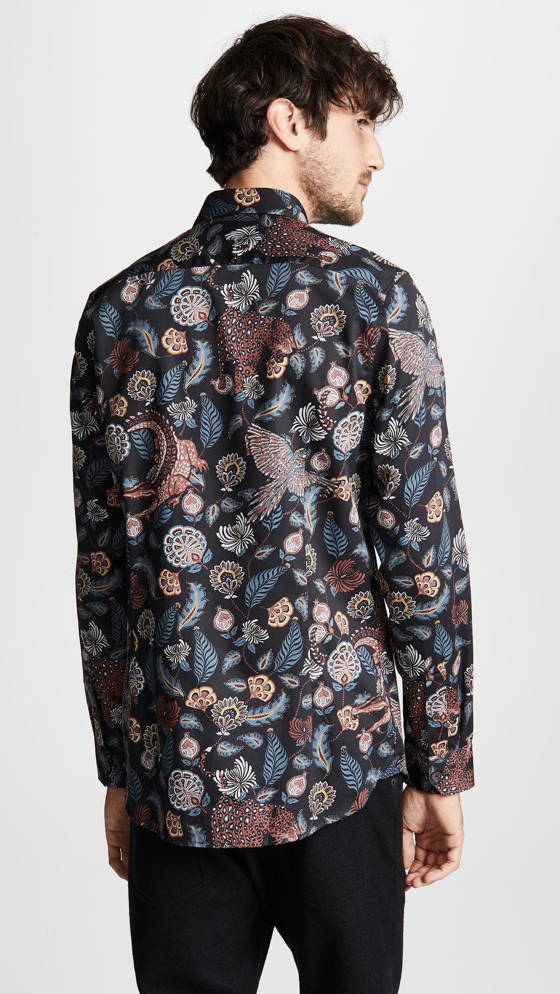 fe67d79eb686c Ted Baker - Blue Vauxhal Long Sleeve Shirt for Men - Lyst. View fullscreen