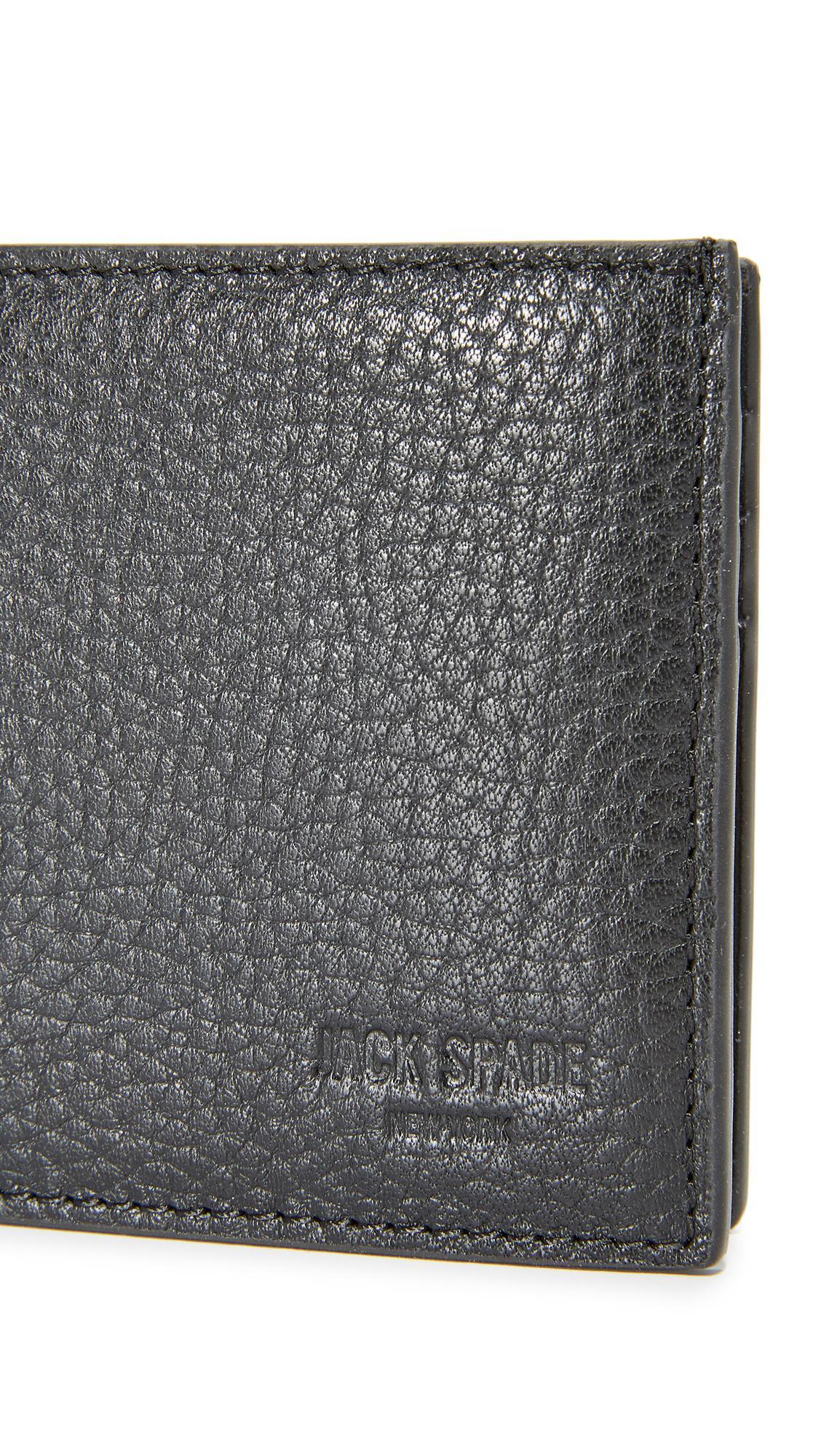 72458ea77240a Lyst - Jack Spade Pebbled Leather Slim Billfold in Black for Men
