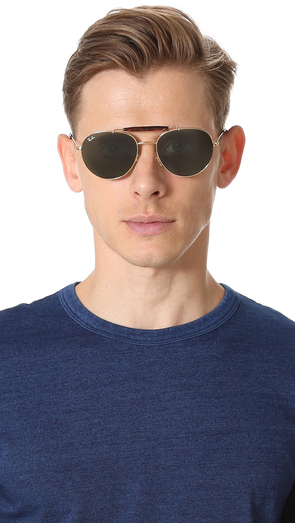 ab06b70cc5 Ray ban green double bridge aviators for men view fullscreen jpg 1128x2000 Ray  ban double bridge