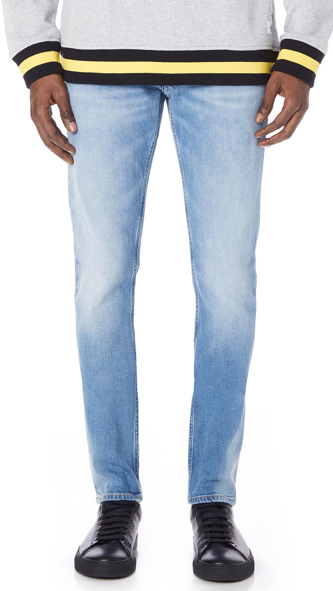 53c8663b993 Calvin Klein Slim Roxy Blue Destroyed Jeans in Blue for Men - Lyst