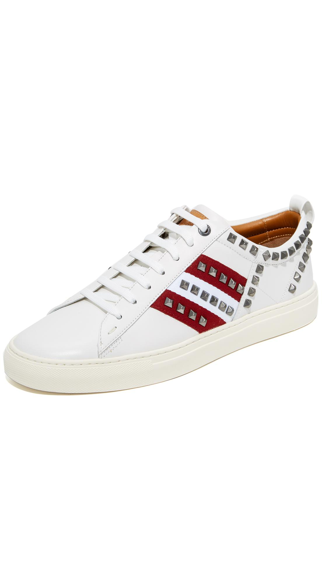BallySTRIPES STUDDED LEATHER SNEAKERS