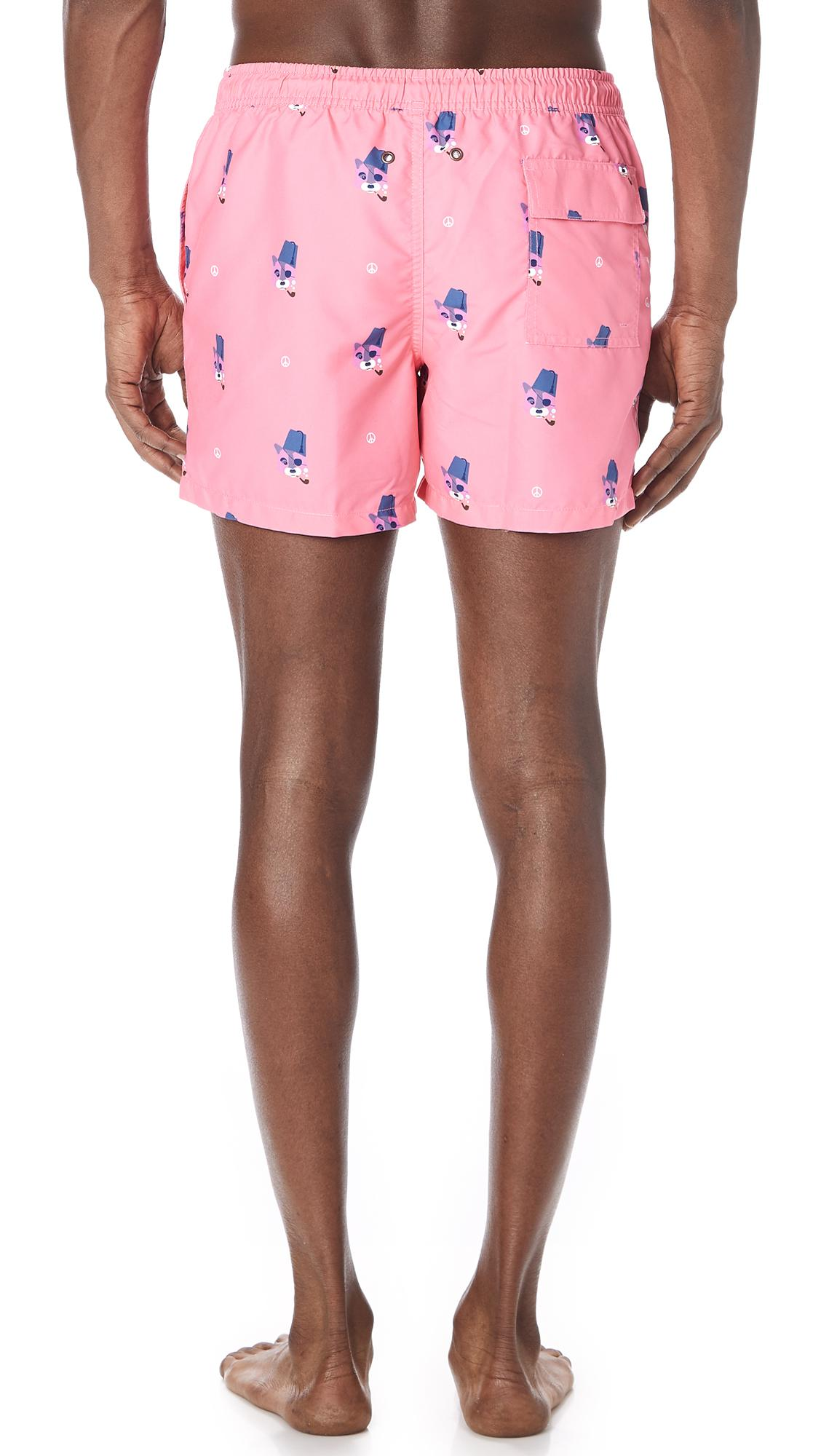 524bc5b8ce Nikben Peace Out Swim Trunks in Pink for Men - Lyst