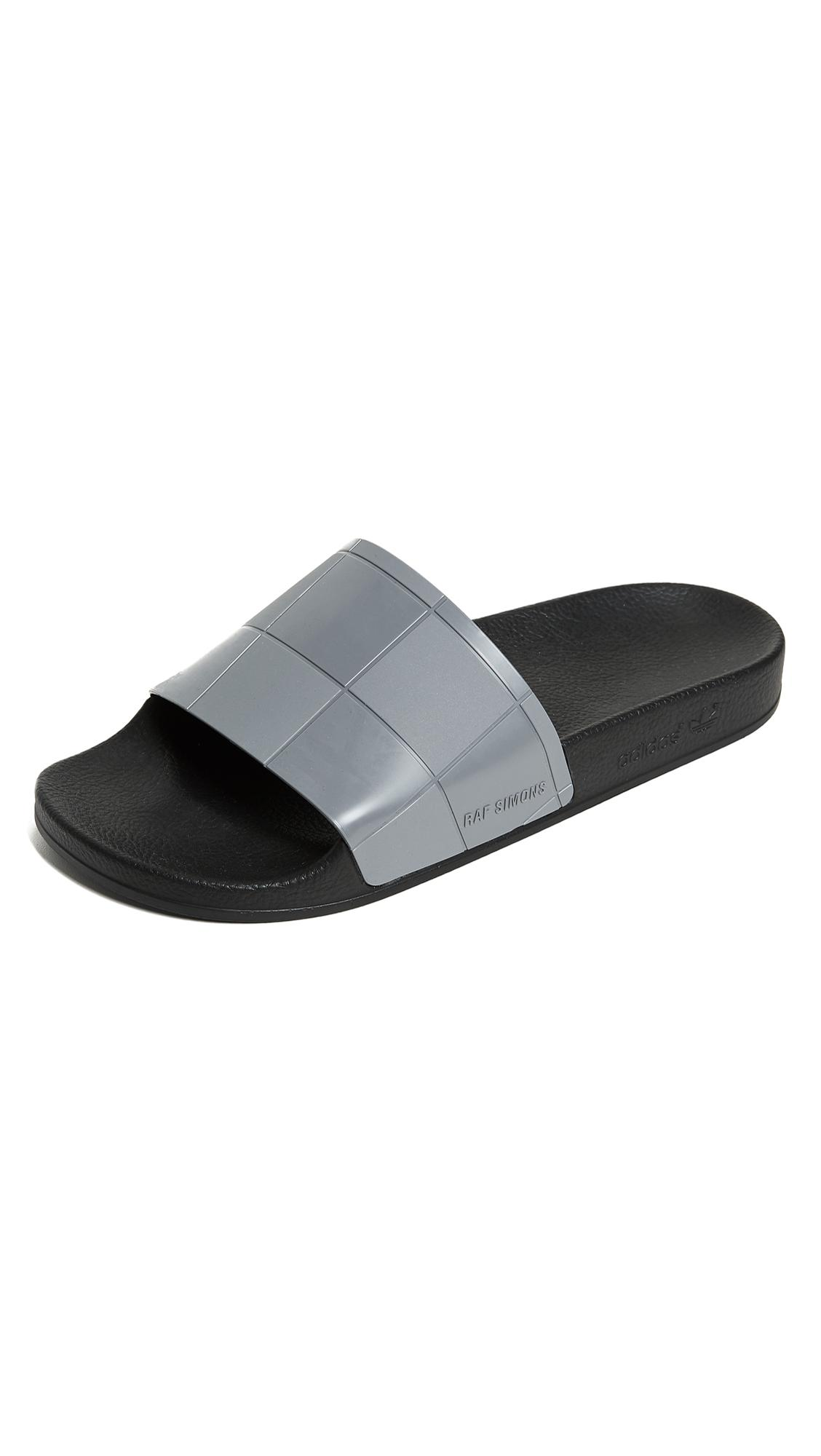 new concept 3306c 09ed2 Lyst - adidas By Raf Simons Adilette Checkerboard Slides in Black ...