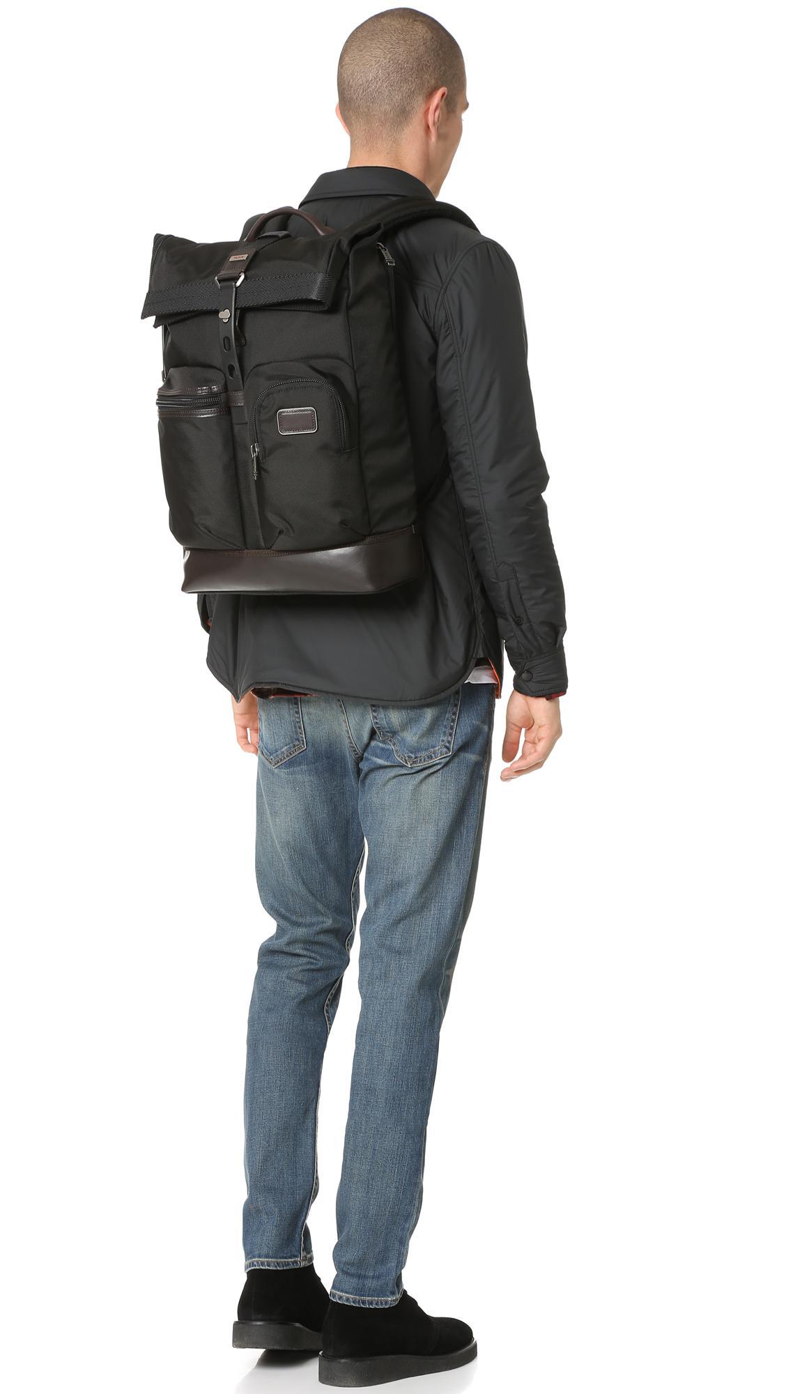 3a98b0aa219 Lyst - Tumi Alpha Bravo Luke Roll Top Backpack in Gray for Men