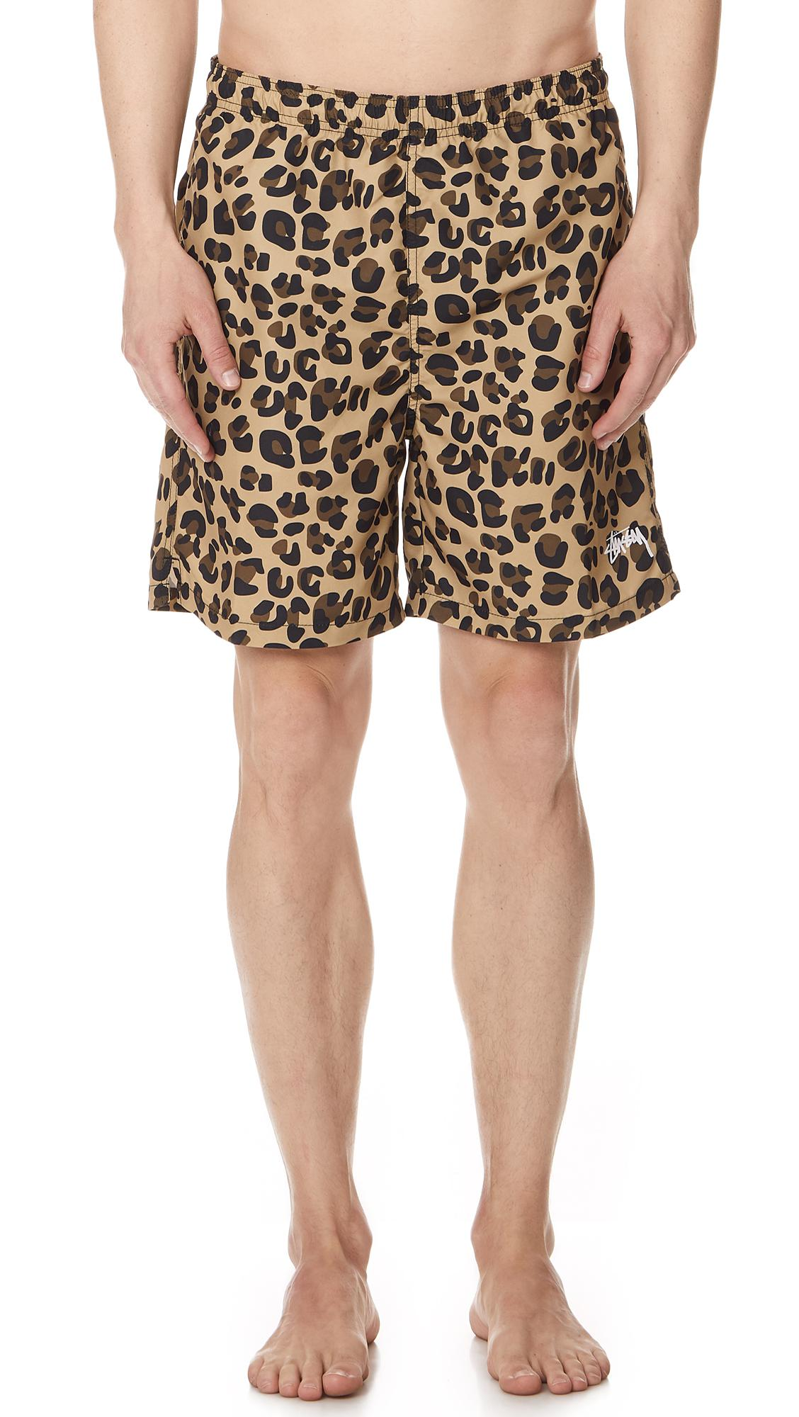 389a15285b Stussy Leopard Swim Trunks for Men - Lyst