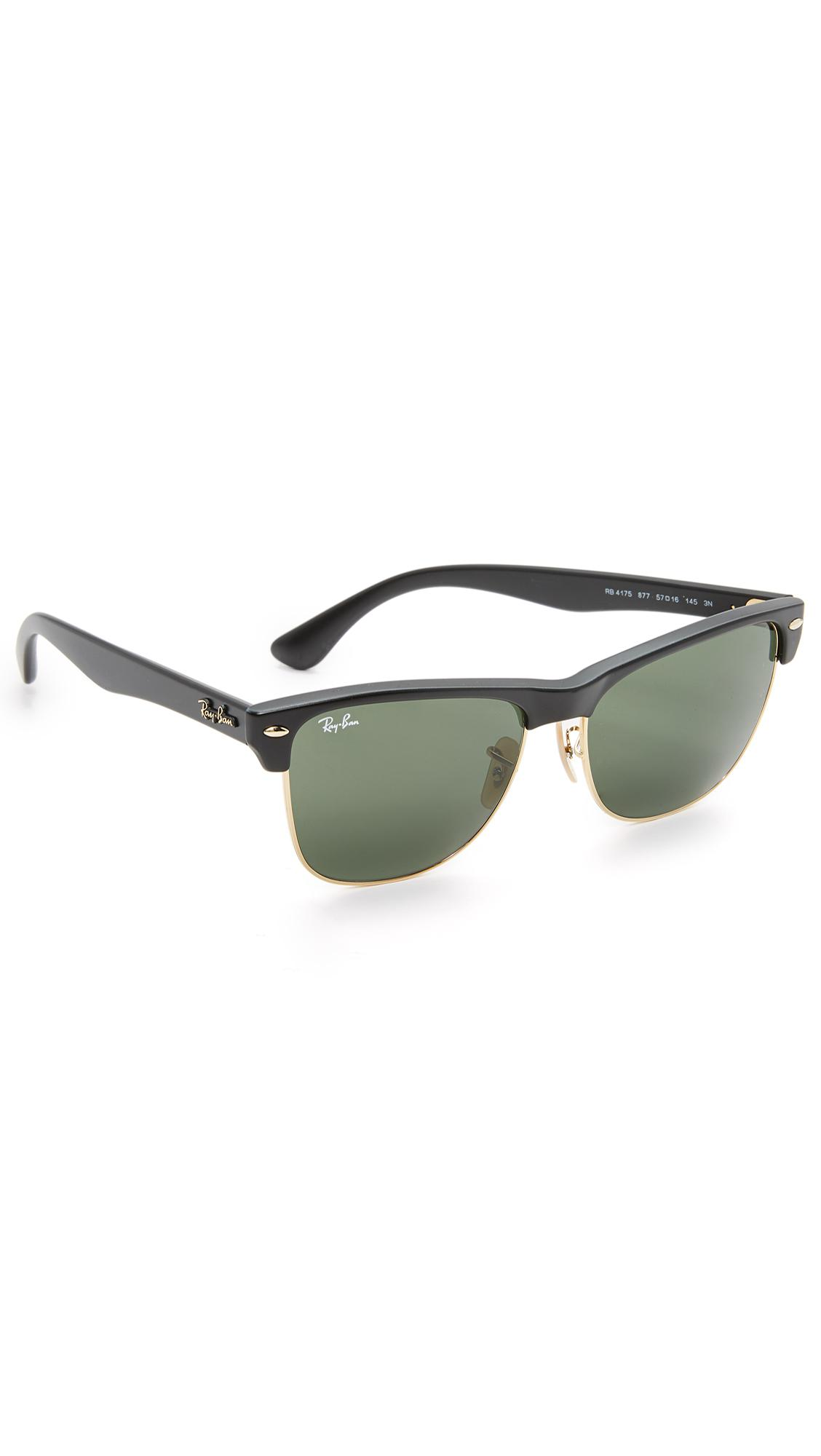6fb7ba9f0aa Ray-Ban Clubmaster Oversized Sunglasses in Black for Men - Lyst