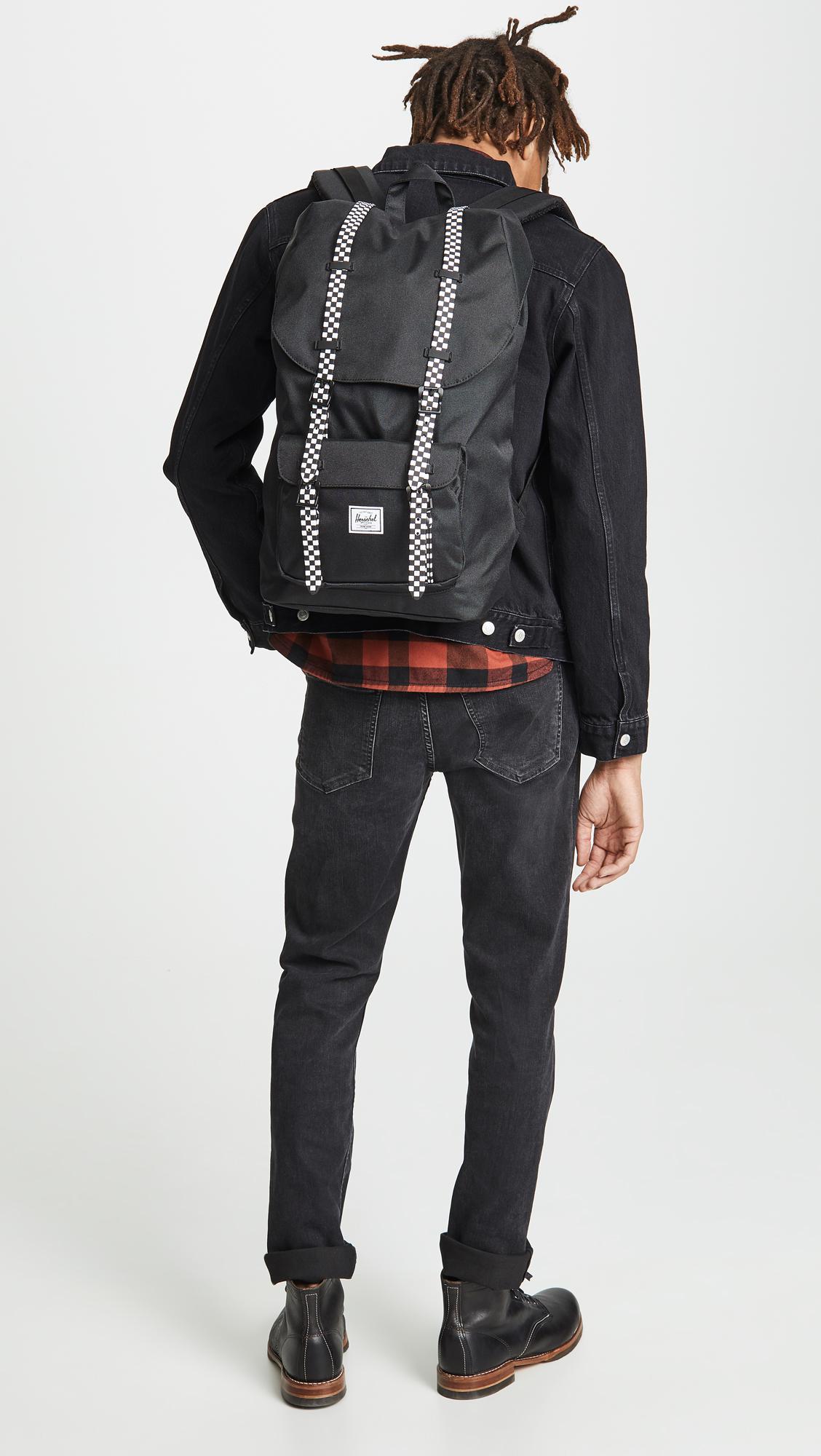 Herschel Supply Co. - Black Little America Backpack for Men - Lyst. View  fullscreen 667fa04547