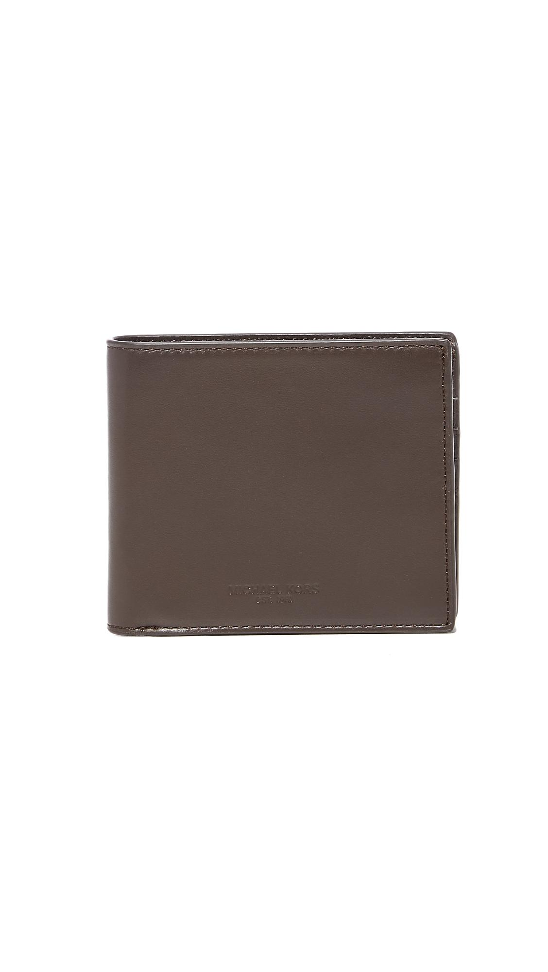 89472f119a08 Michael Kors Odin Leather Billfold in Brown for Men - Lyst