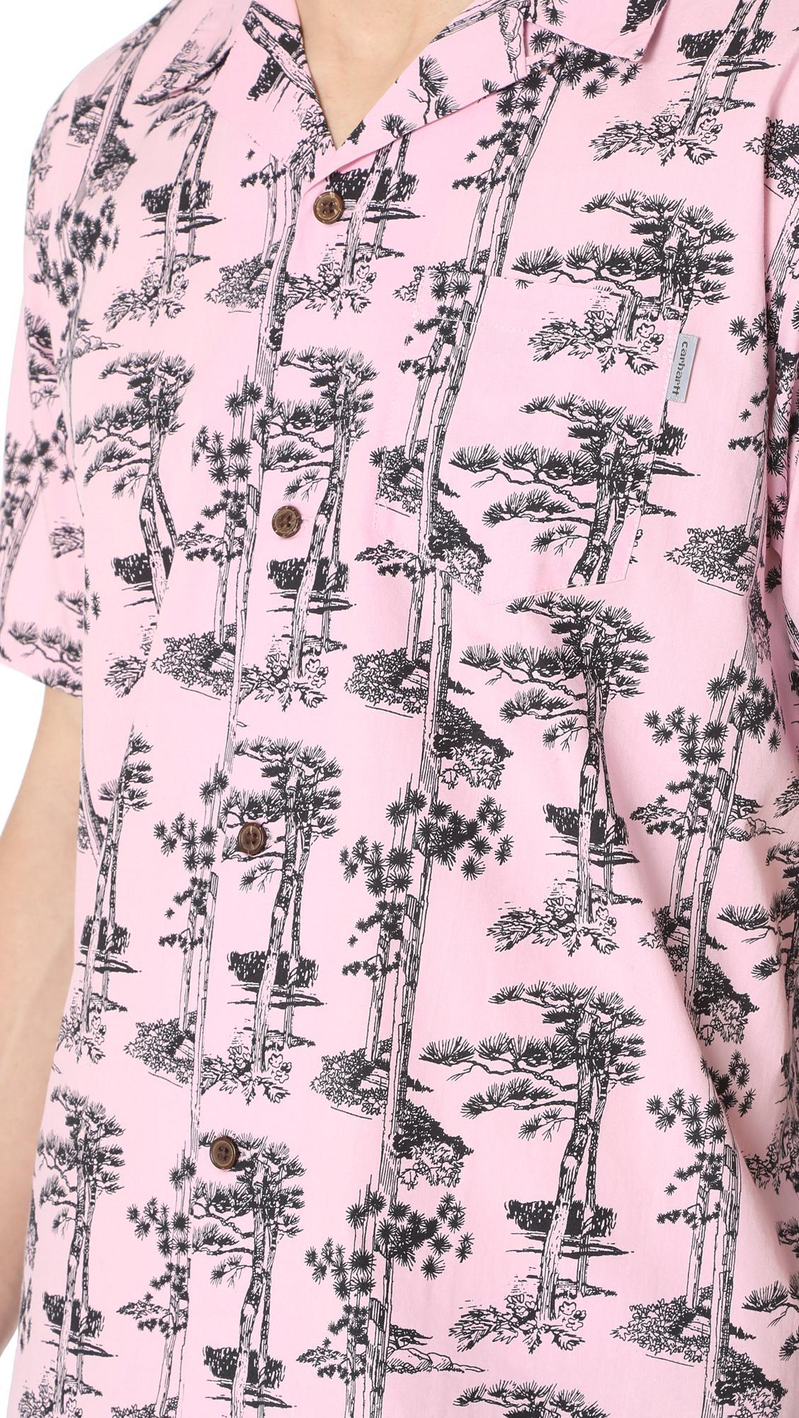 a6efa83e Lyst - Carhartt WIP Short Sleeve Pine Hawaii Shirt in Pink for Men