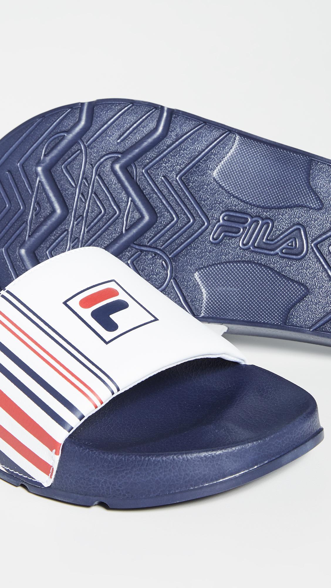 641462a5 Fila Drifter Stripe Slides in Blue for Men - Lyst