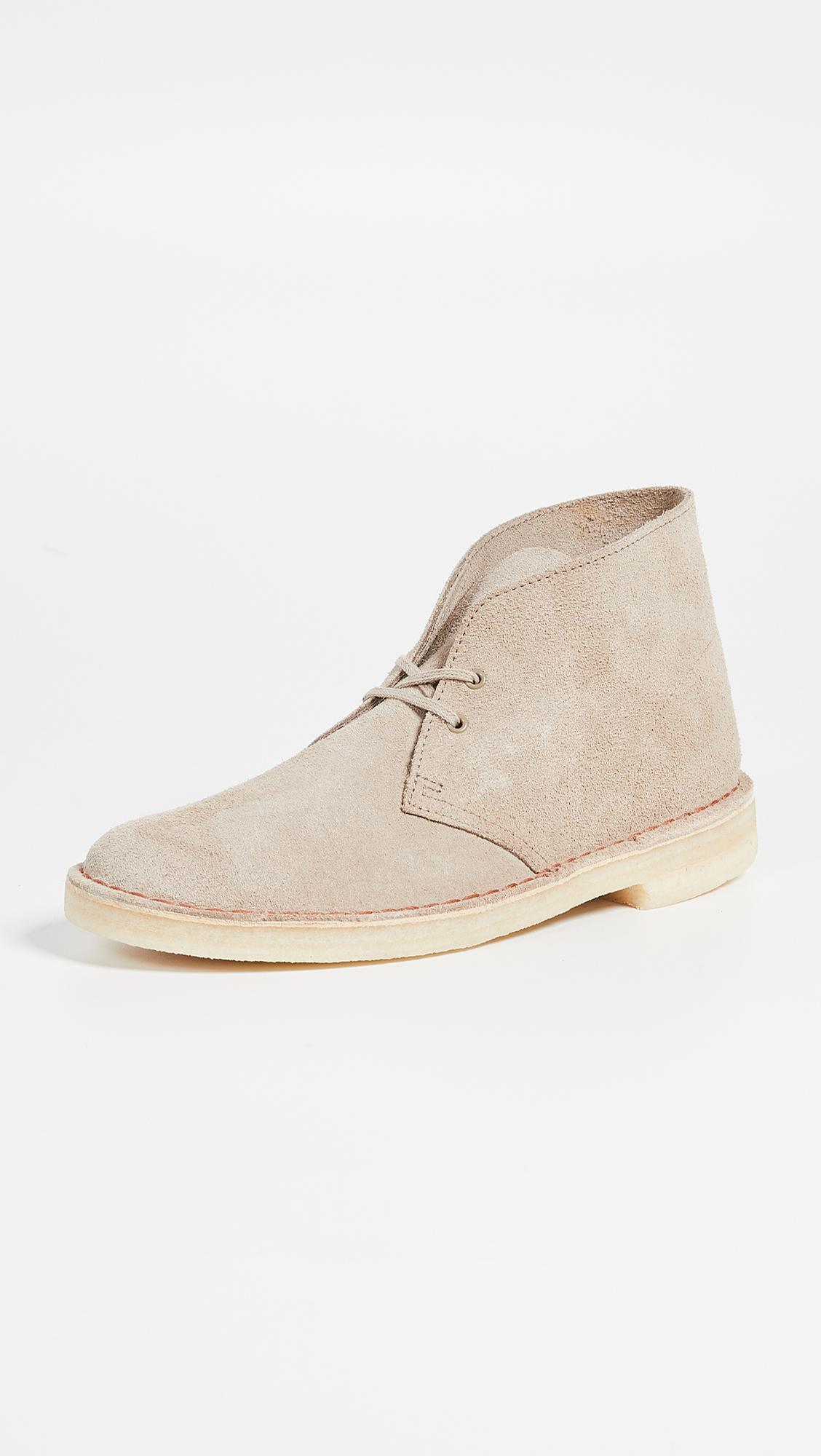 84bb19d75435b8 Lyst - Clarks Suede Desert Boots in Natural for Men